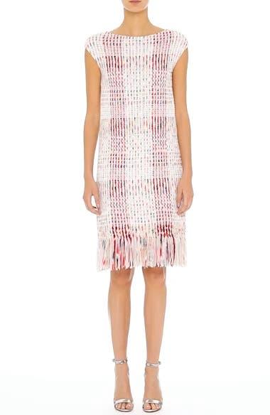 Ribbon Macro Plaid Knit Dress, video thumbnail