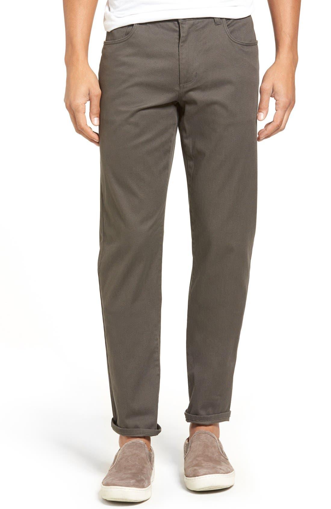 Soho Slim Fit Five-Pocket Pants,                             Main thumbnail 1, color,                             GREY
