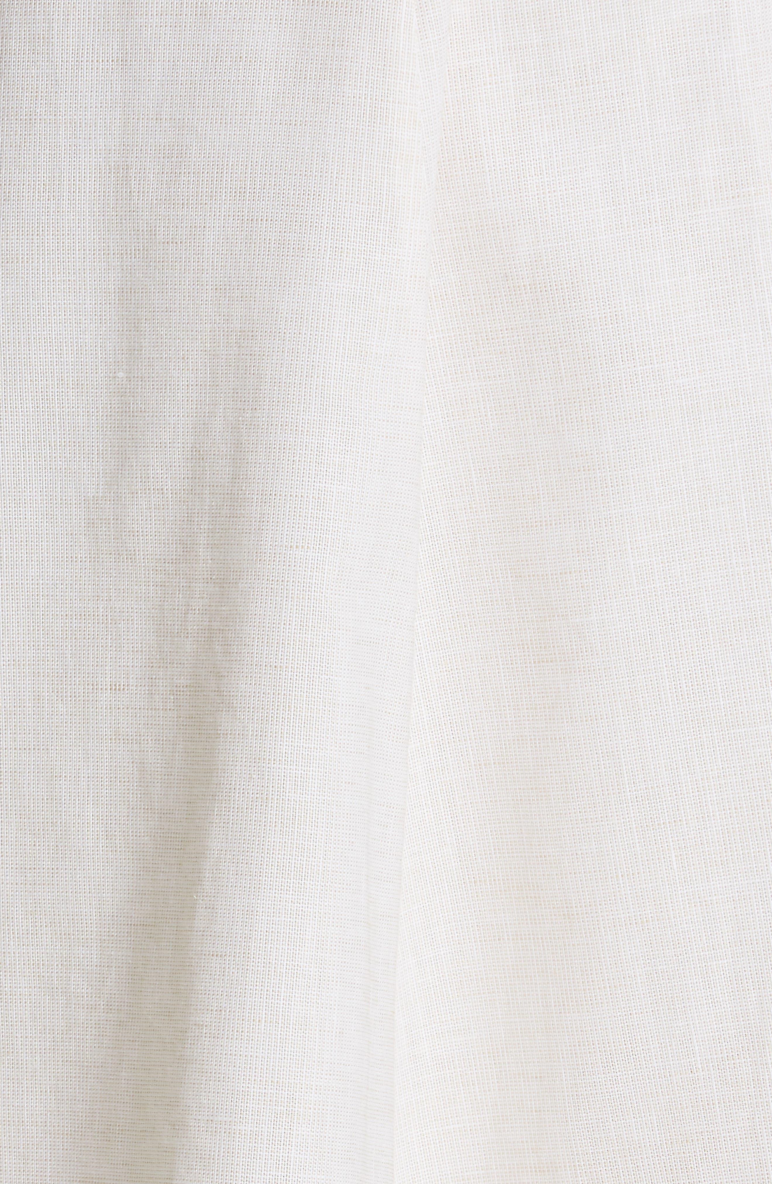 JONATHAN SIMKHAI,                             Off the Shoulder Cotton & Linen Dress,                             Alternate thumbnail 5, color,                             ECRU