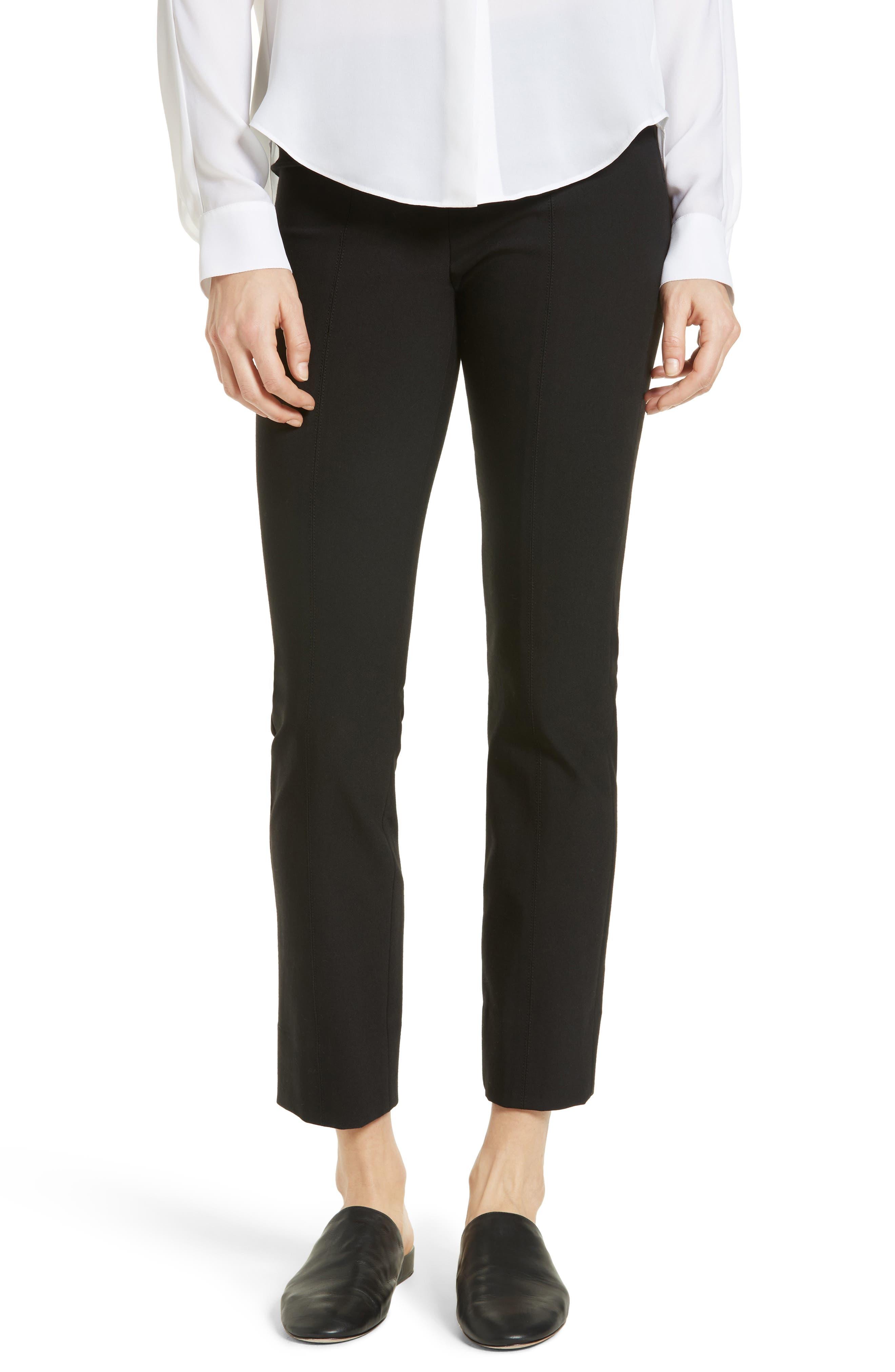 Crop Leggings,                         Main,                         color, BLACK