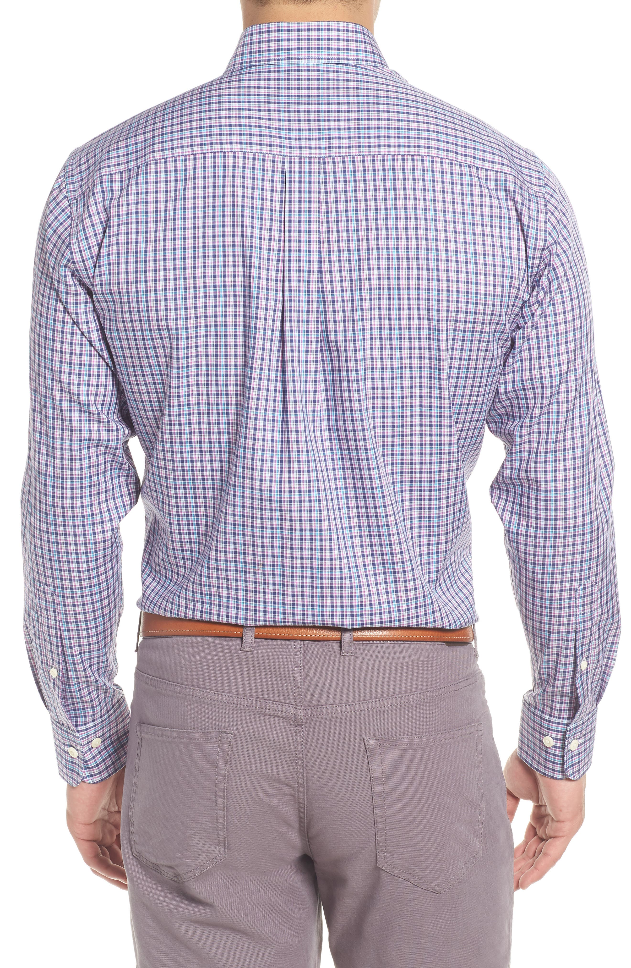 PETER MILLAR,                             Crown Ease Kaci Plaid Sport Shirt,                             Alternate thumbnail 2, color,                             400