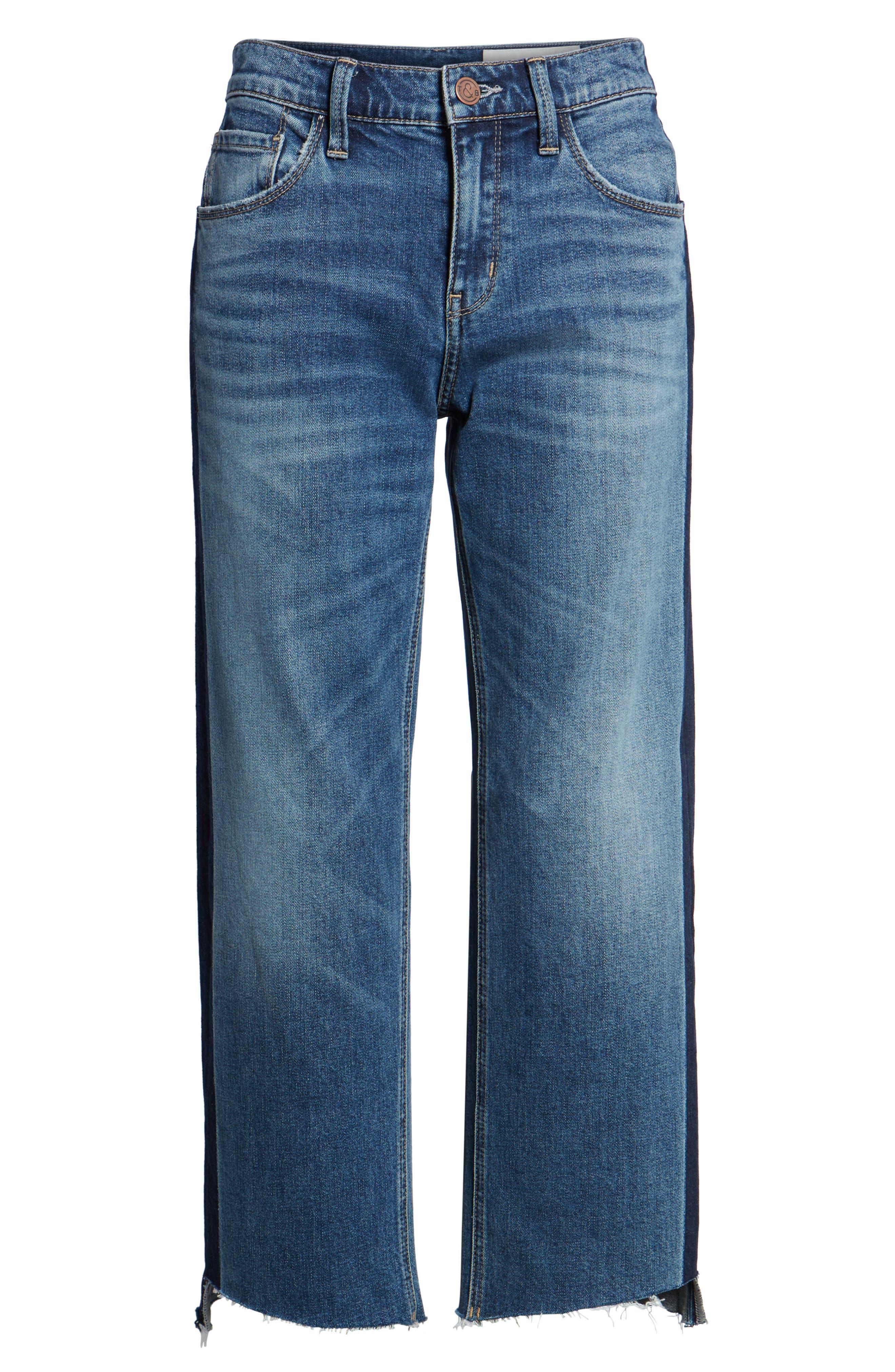 Shelter Wide Leg Crop Jeans,                             Alternate thumbnail 6, color,