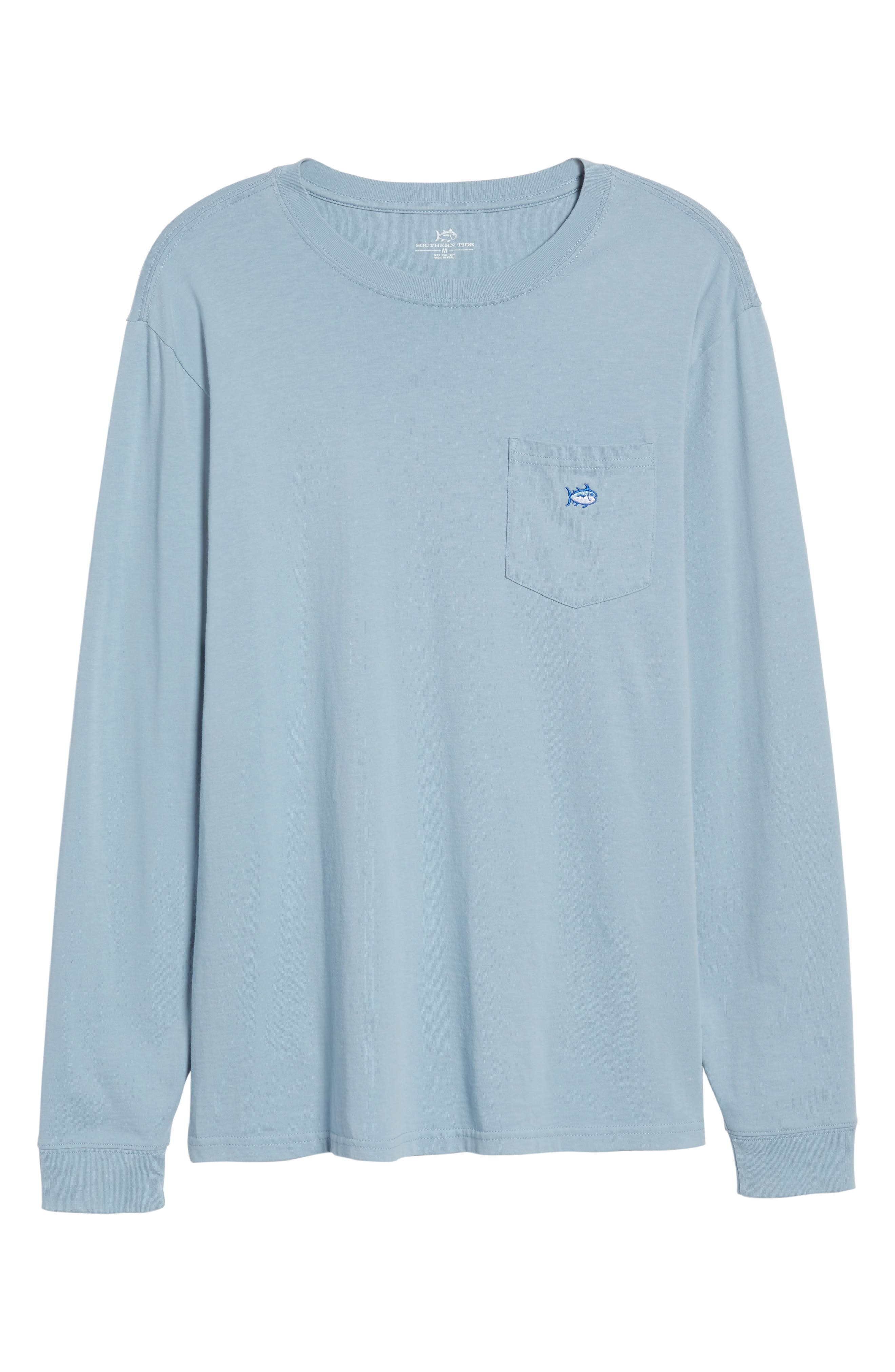Embroidered Long Sleeve T-Shirt,                             Alternate thumbnail 6, color,                             448