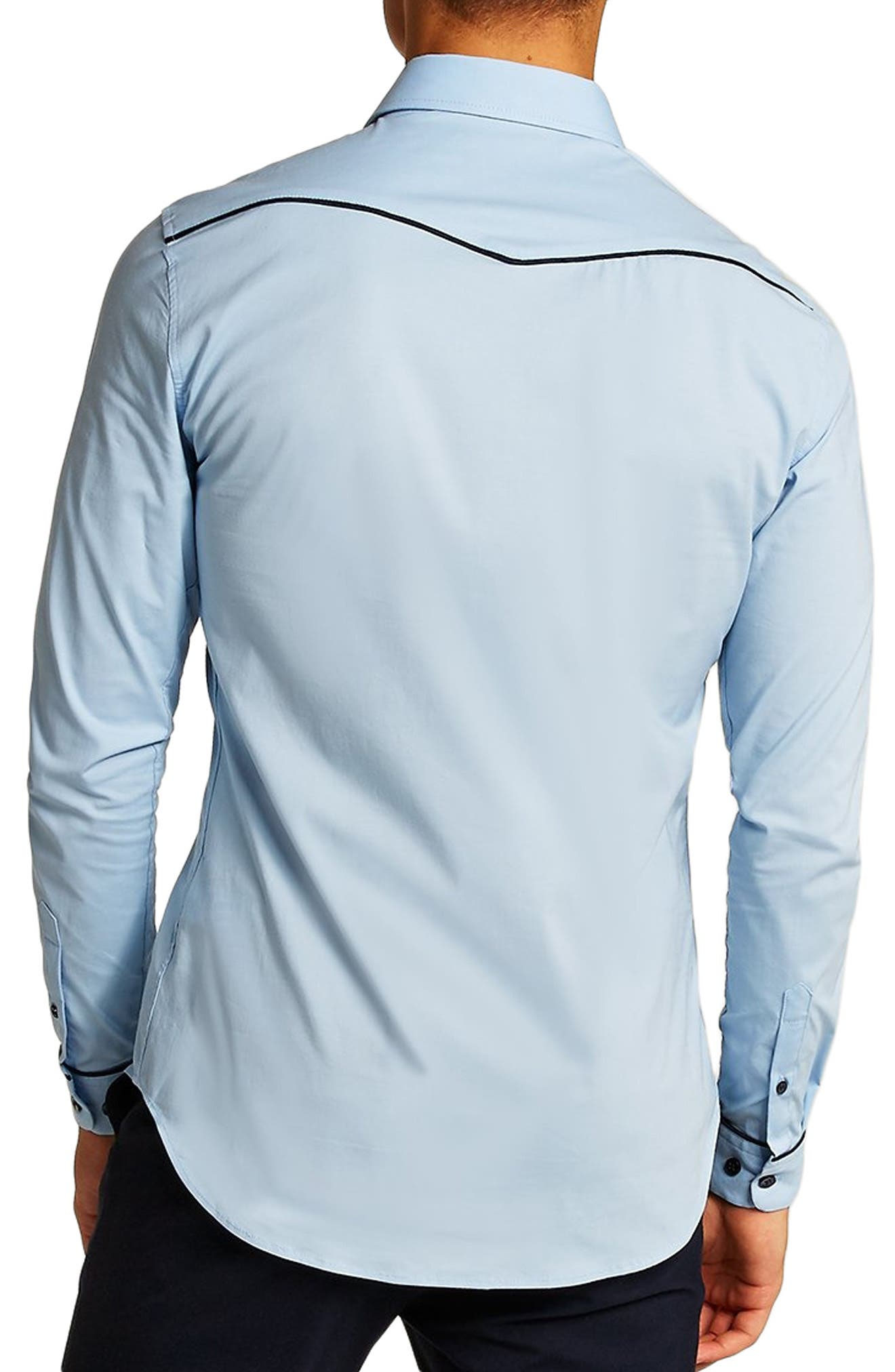 Classic Fit Western Sport Shirt,                             Alternate thumbnail 3, color,                             450