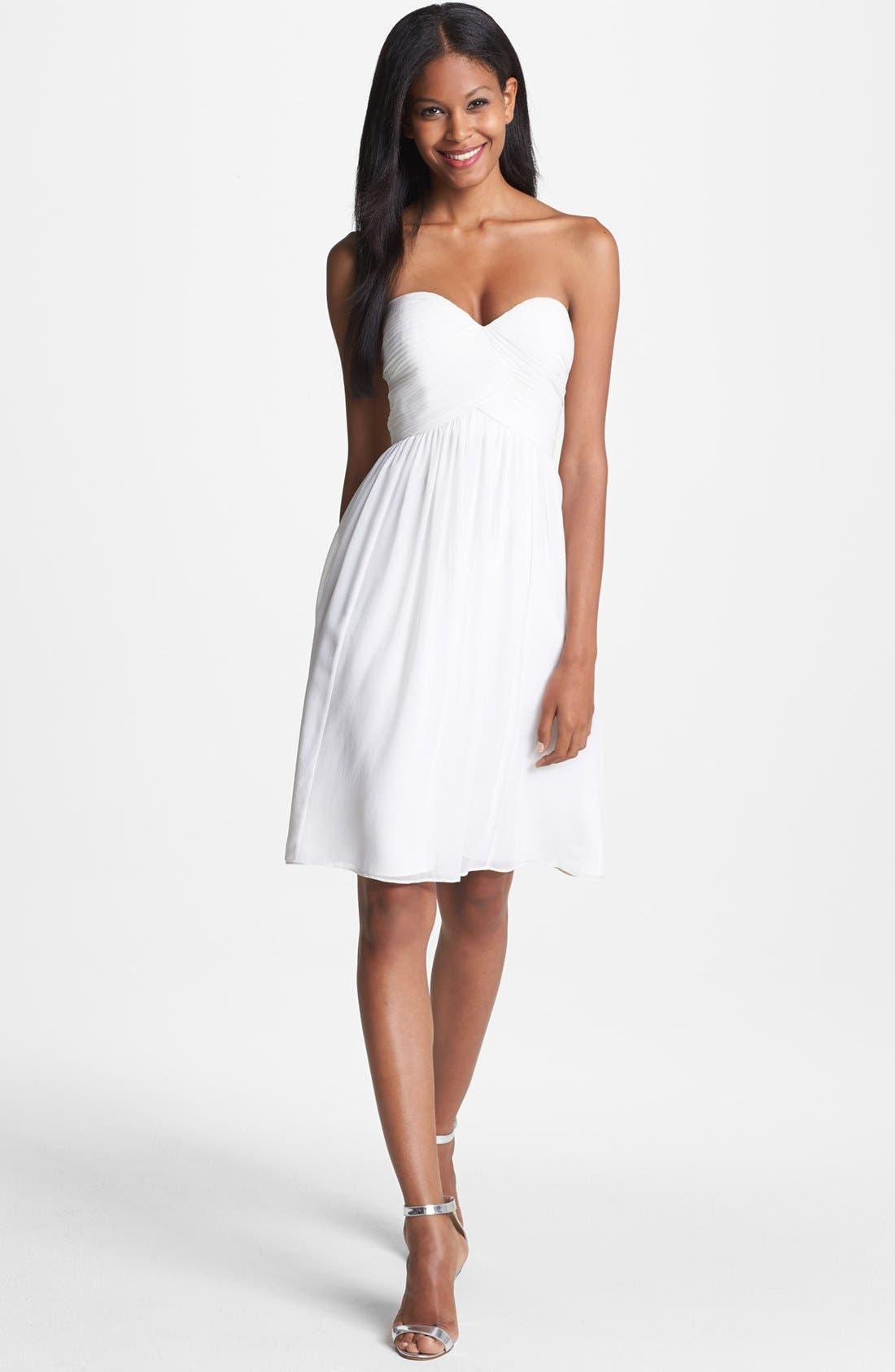 'Morgan' Strapless Silk Chiffon Dress,                             Alternate thumbnail 45, color,