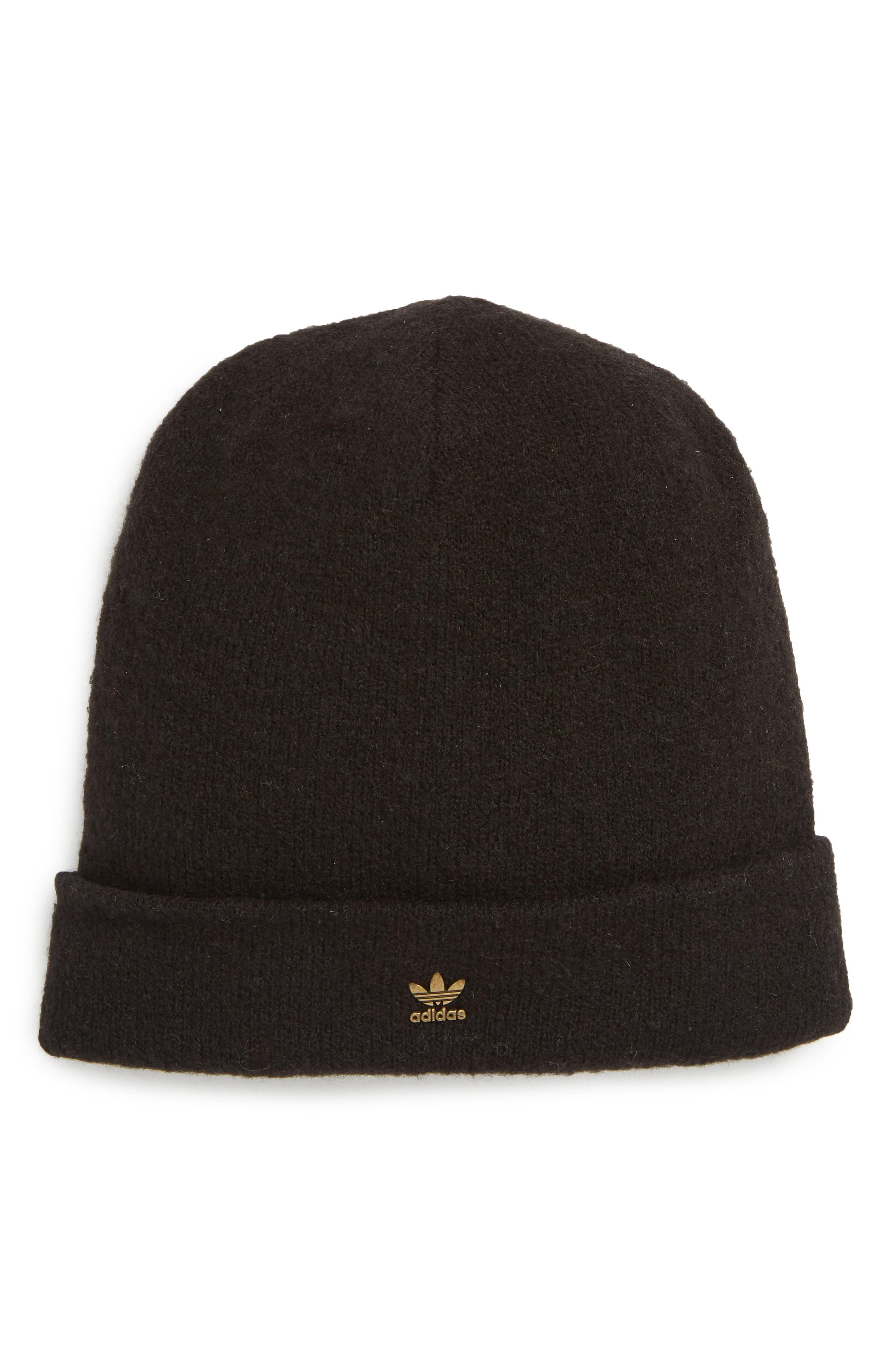 Adidas Originals Fuzzy Beanie Hat - Black