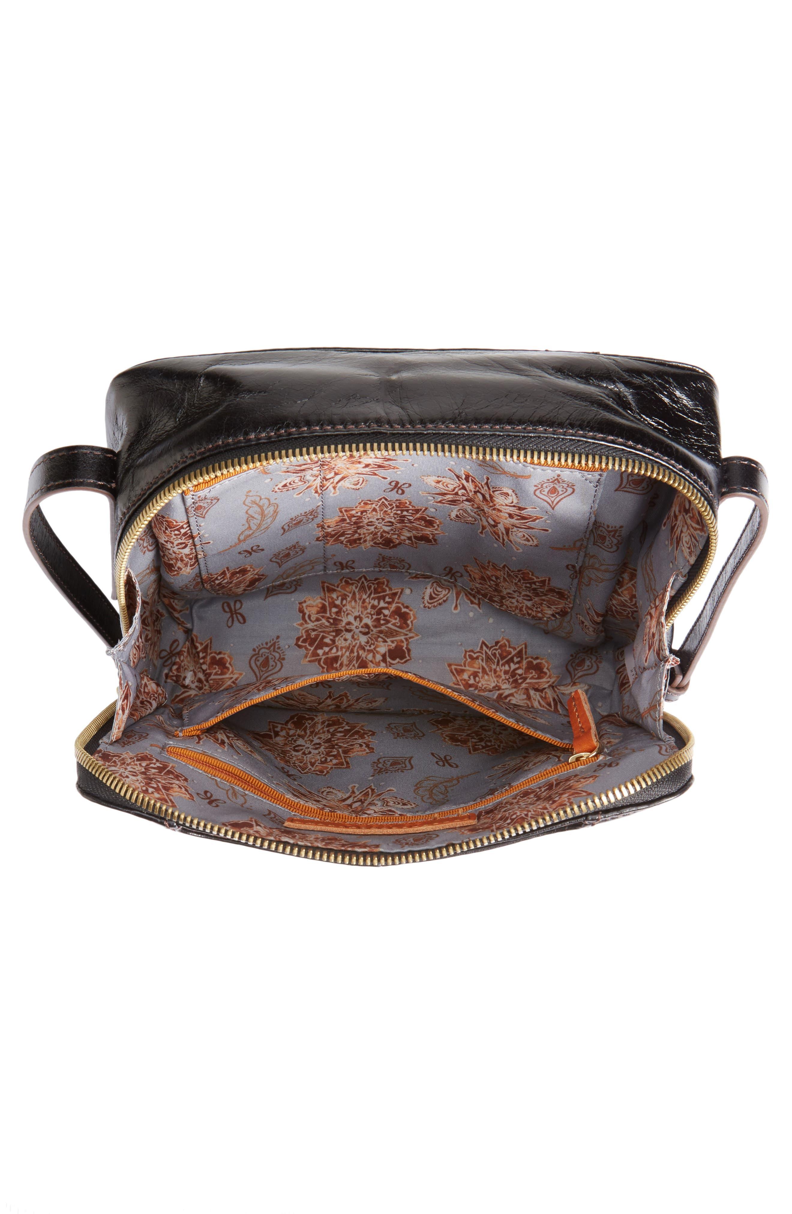 Lyric Leather Crossbody Bag,                             Alternate thumbnail 4, color,                             001