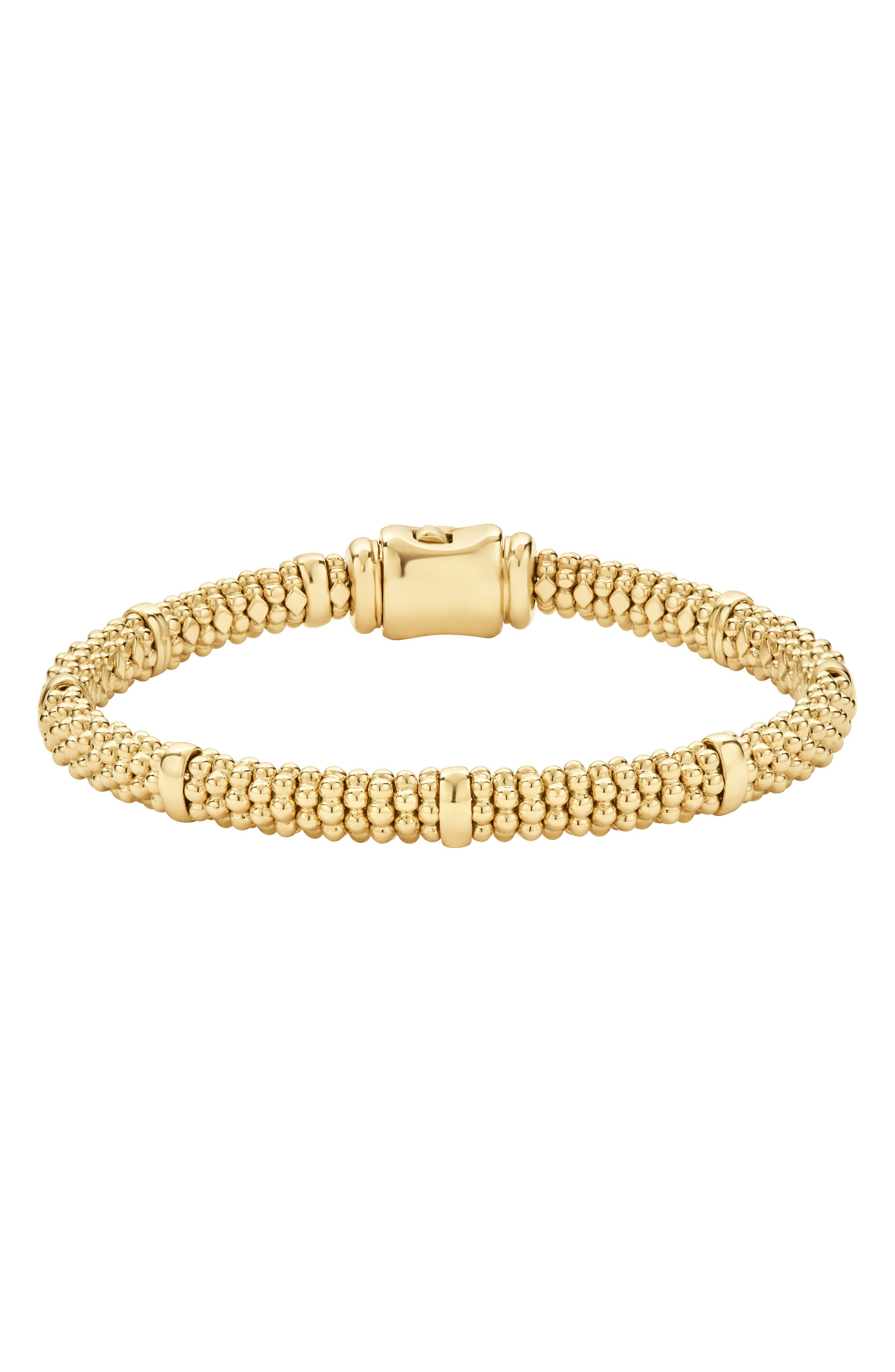 Caviar Rope Bracelet,                             Alternate thumbnail 2, color,                             GOLD