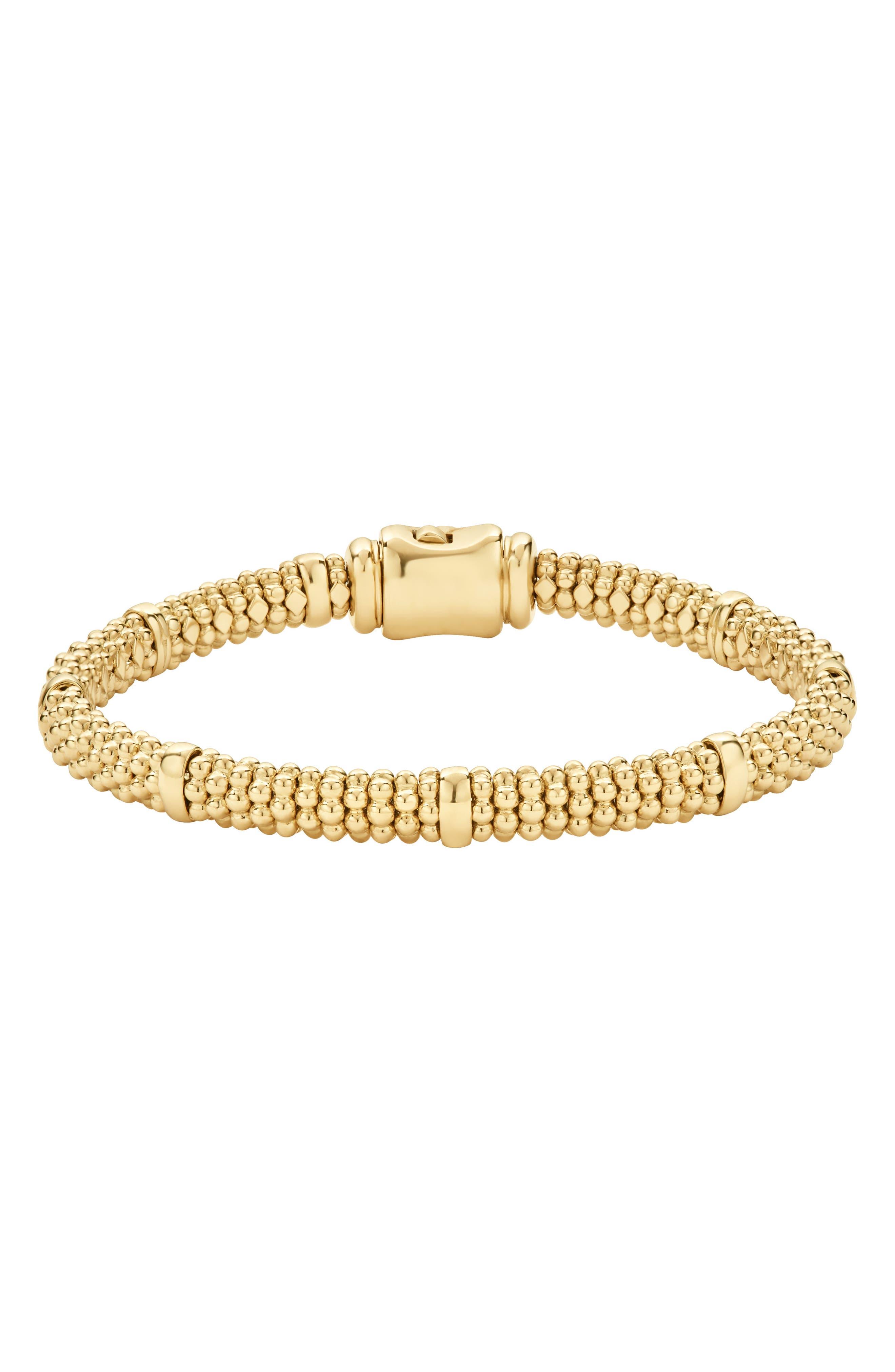 Caviar Rope Bracelet,                         Main,                         color, GOLD