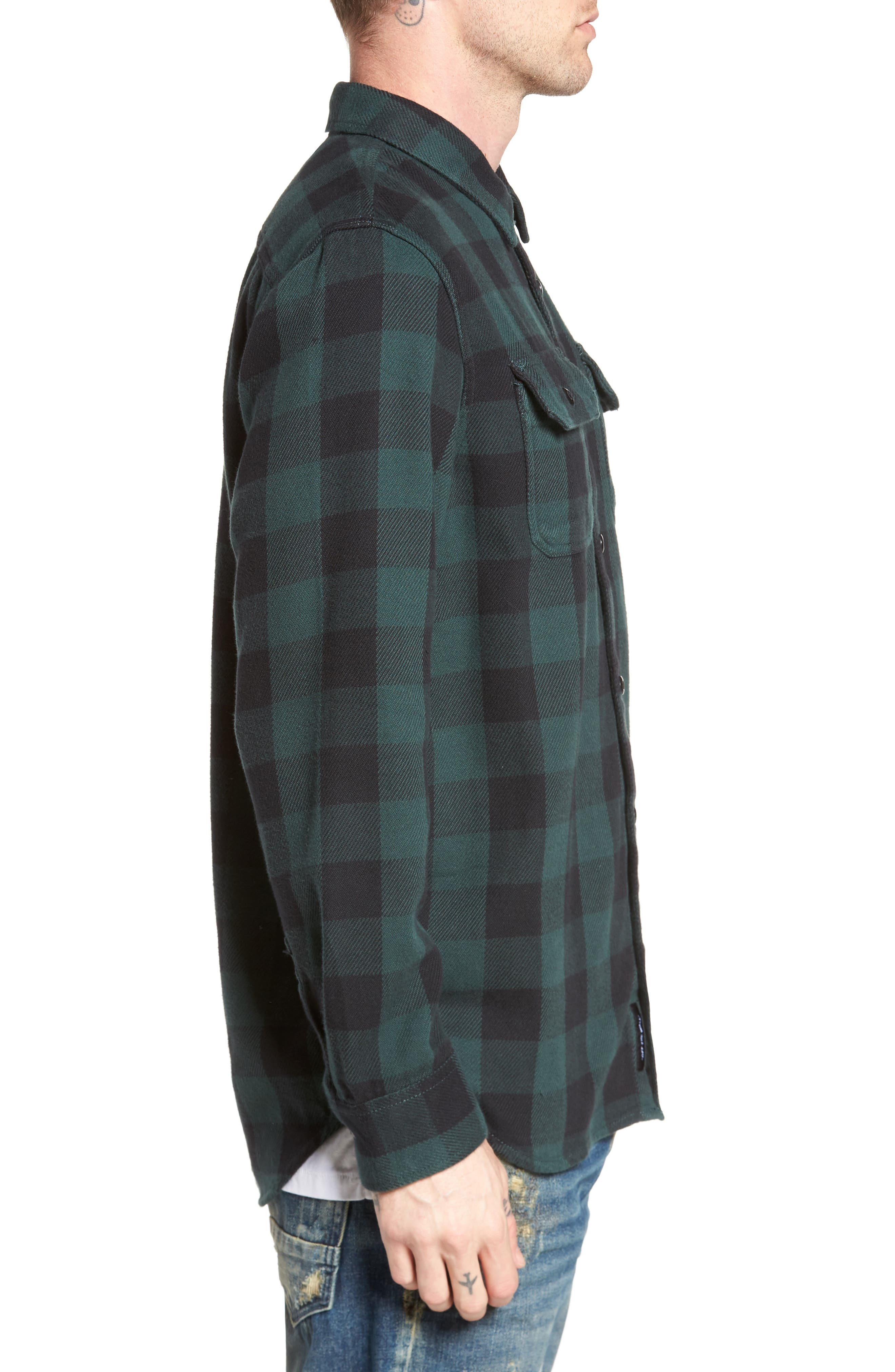 Wisner Plaid Shirt,                             Alternate thumbnail 3, color,                             001