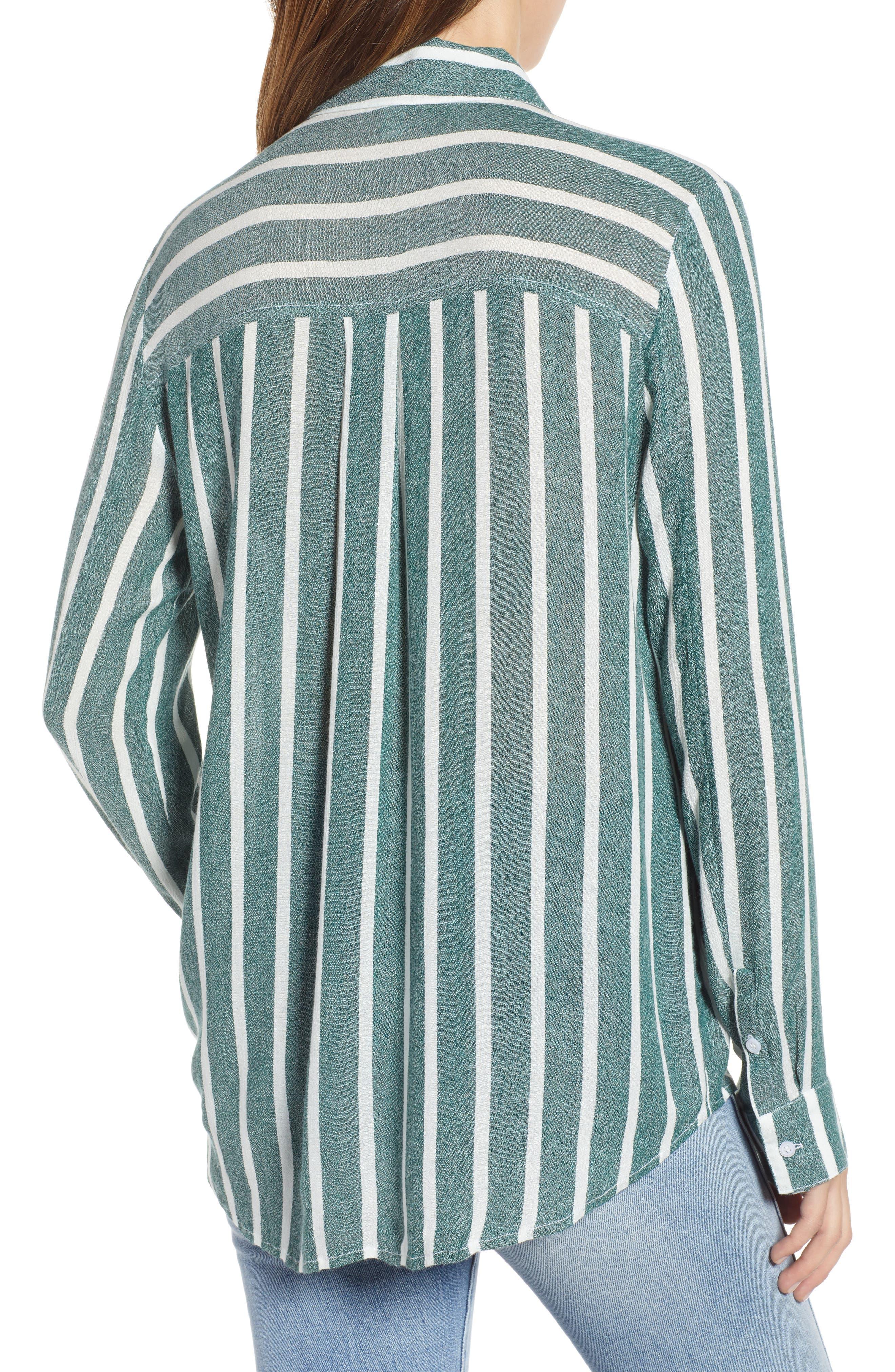 The Perfect Shirt,                             Alternate thumbnail 2, color,                             GREEN BOTANICAL KASEY STRIPE