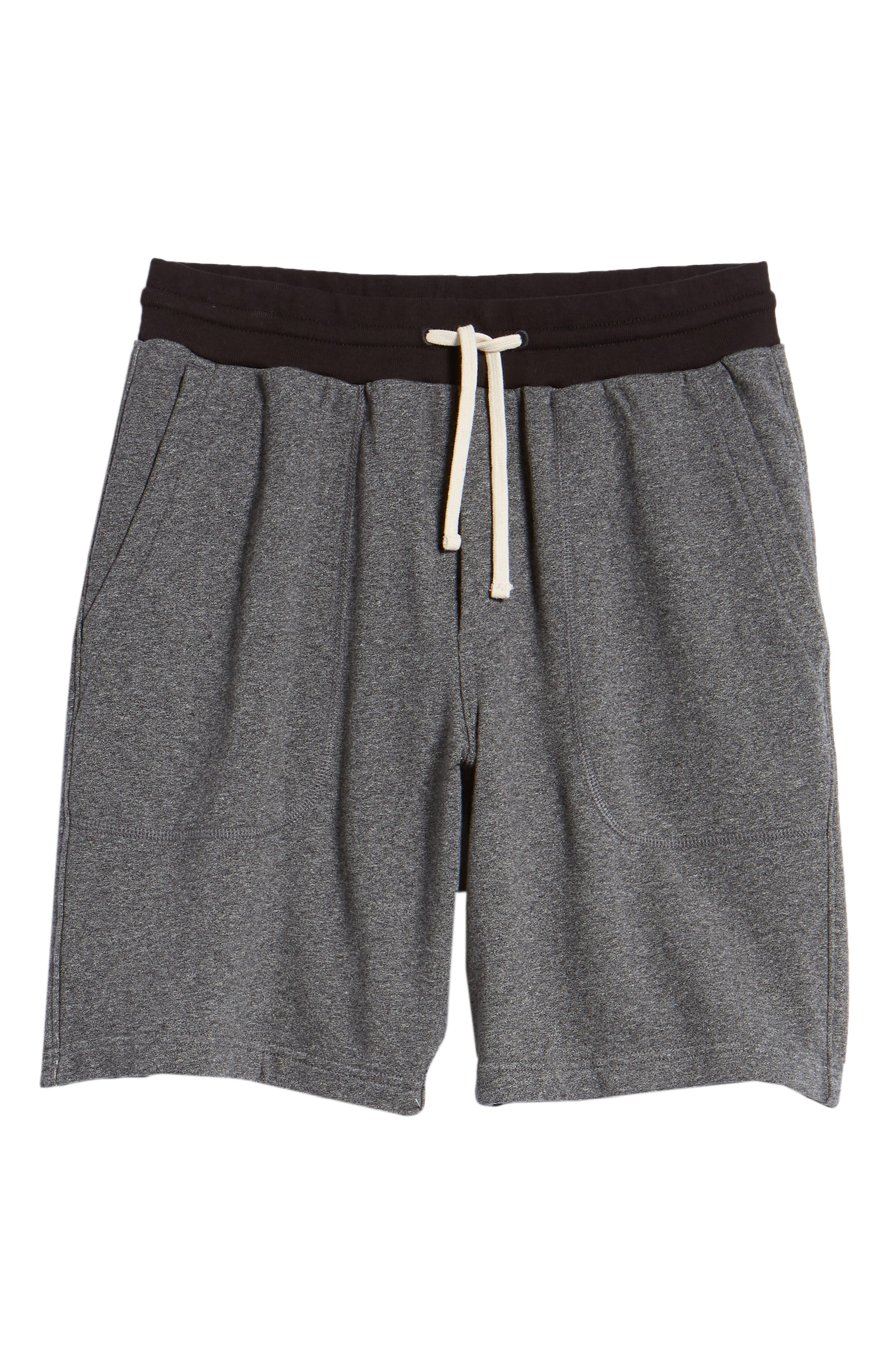 French Terry Shorts,                             Alternate thumbnail 6, color,                             HEATHER ANCHOR