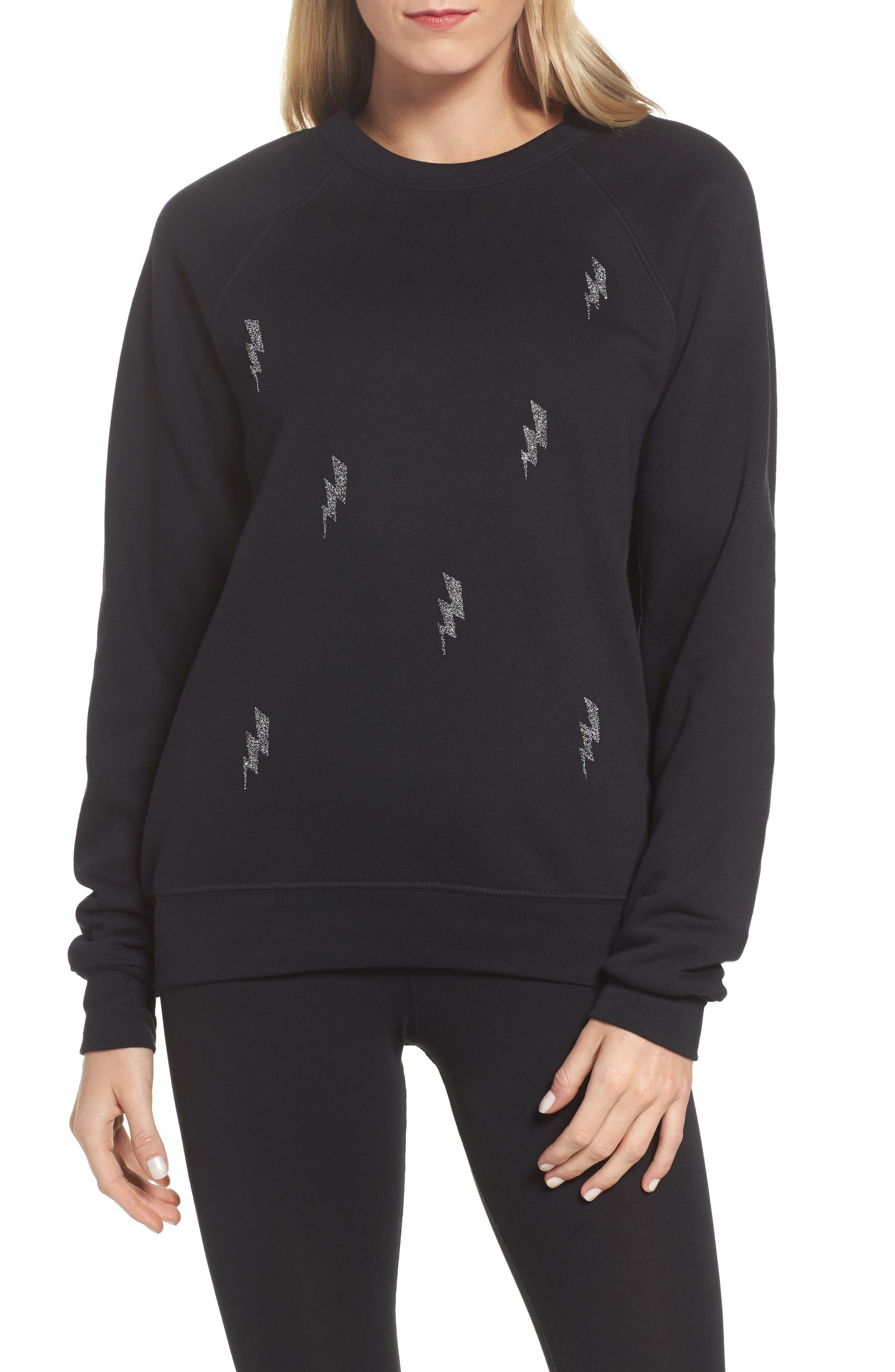 Swarovski Bolt Sweatshirt,                             Main thumbnail 1, color,                             001