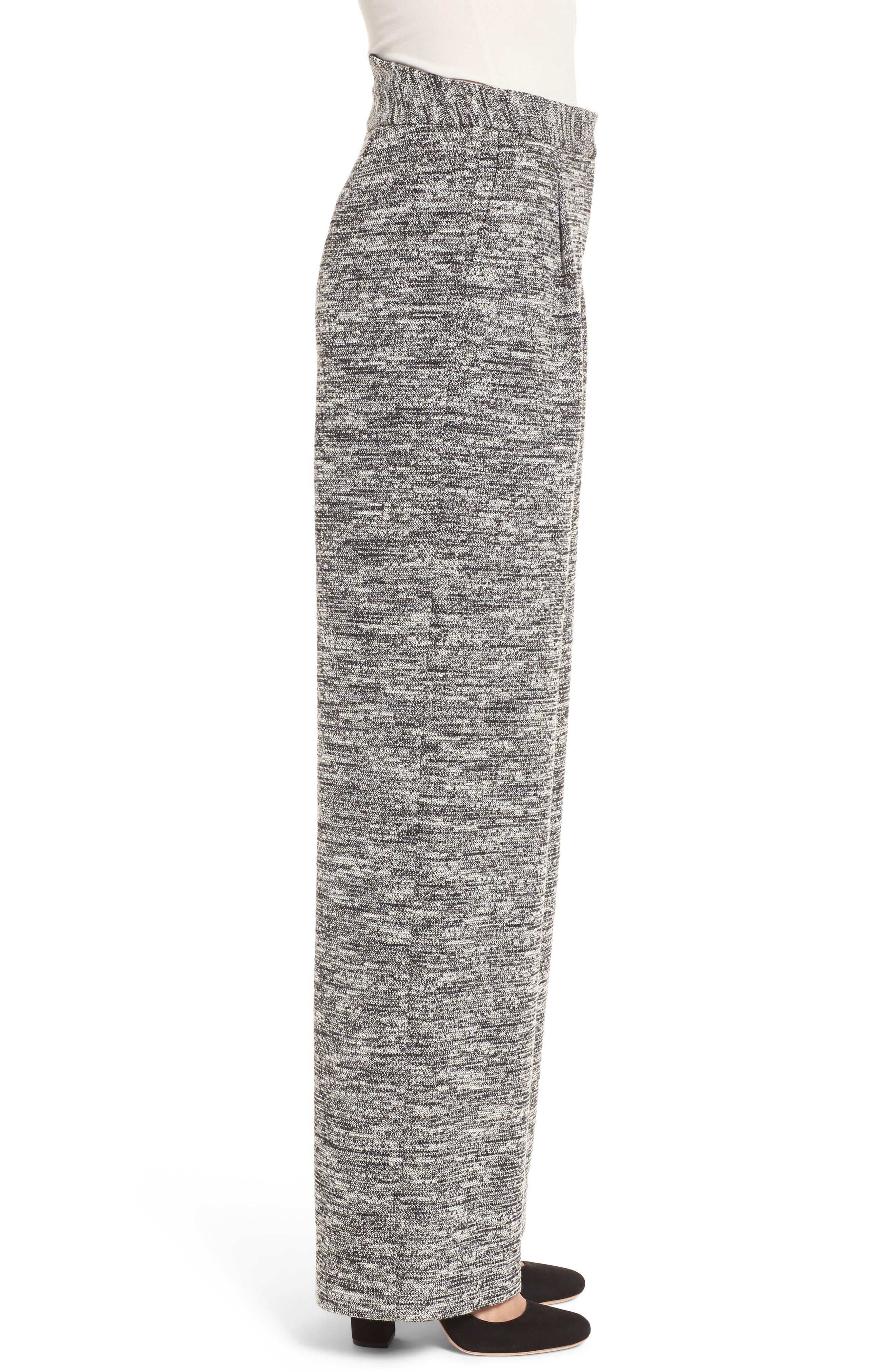 Wide Leg Tweed Pants,                             Alternate thumbnail 3, color,