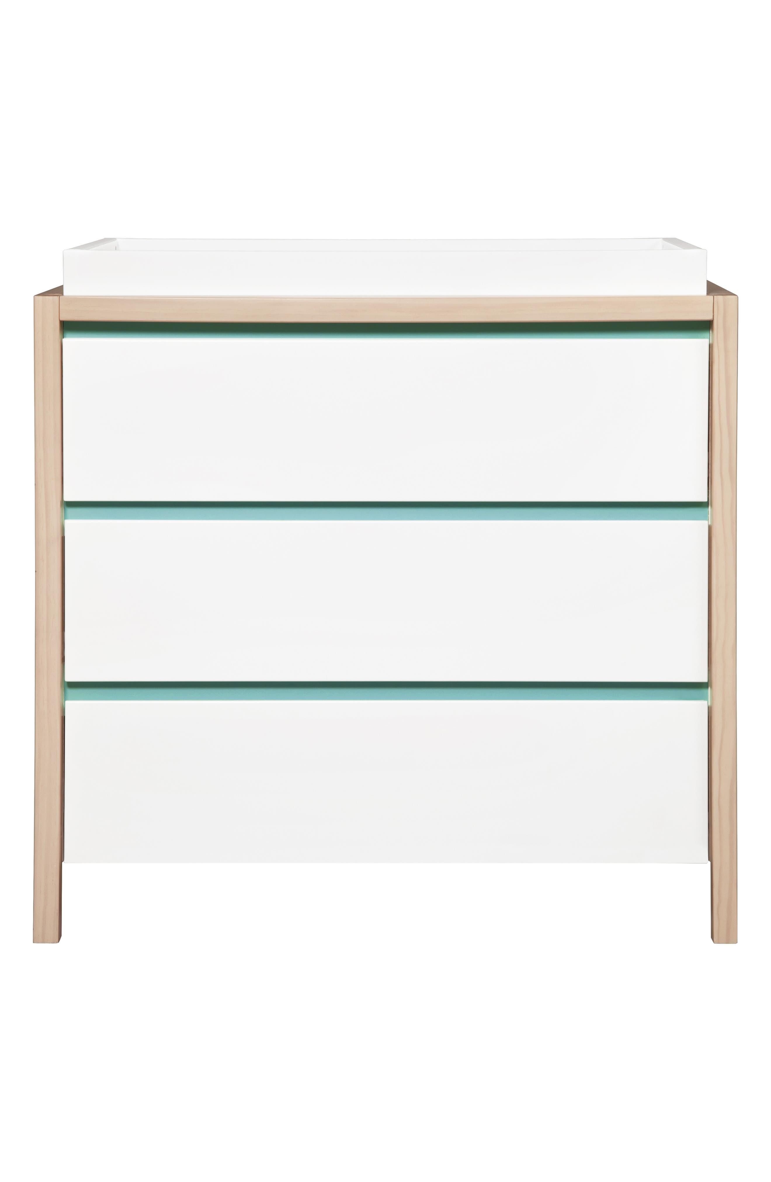 'Bingo' Three Drawer Changer Dresser,                             Alternate thumbnail 8, color,