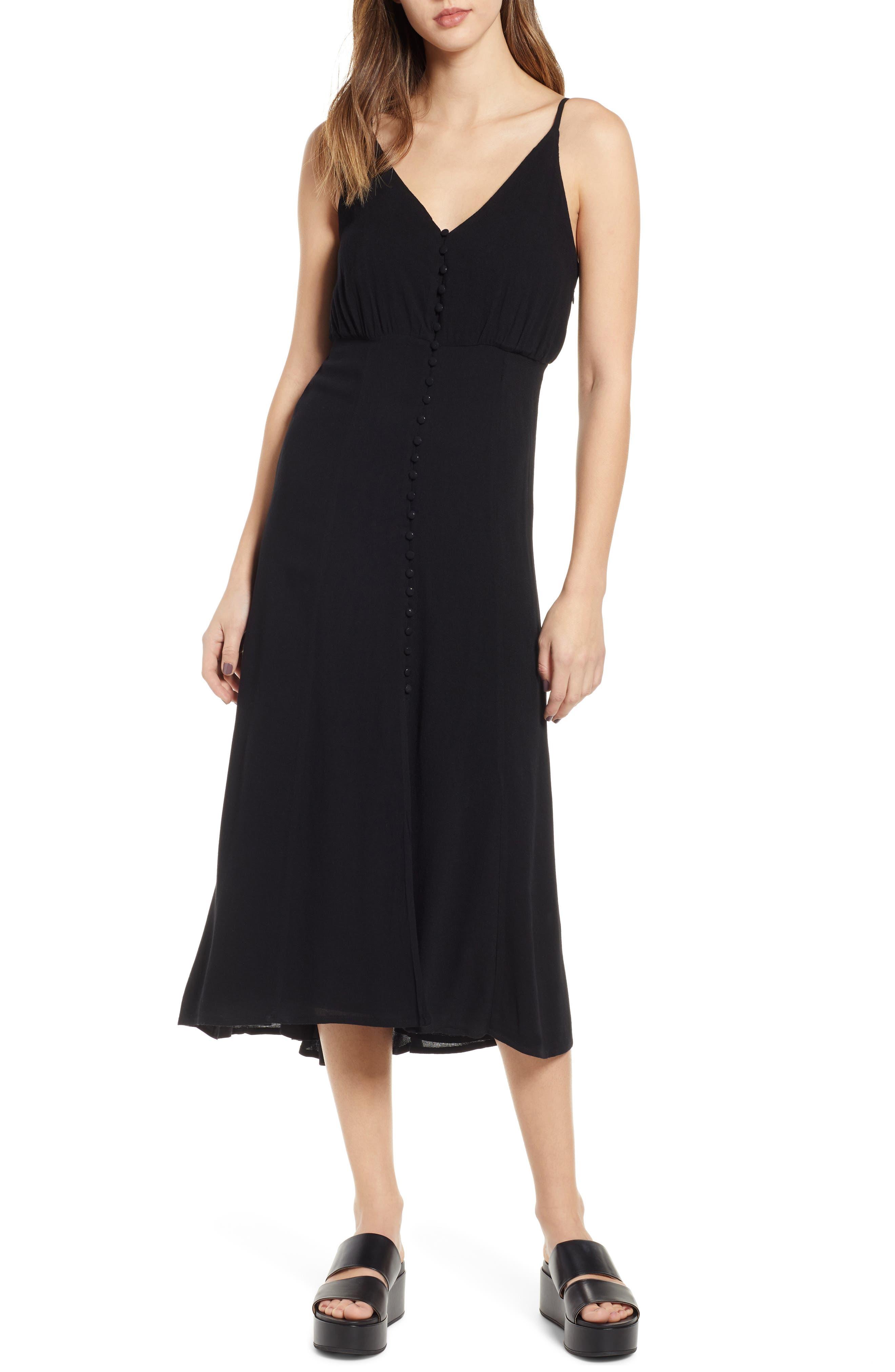 LIRA CLOTHING Cedar Break Midi Dress, Main, color, BLACK