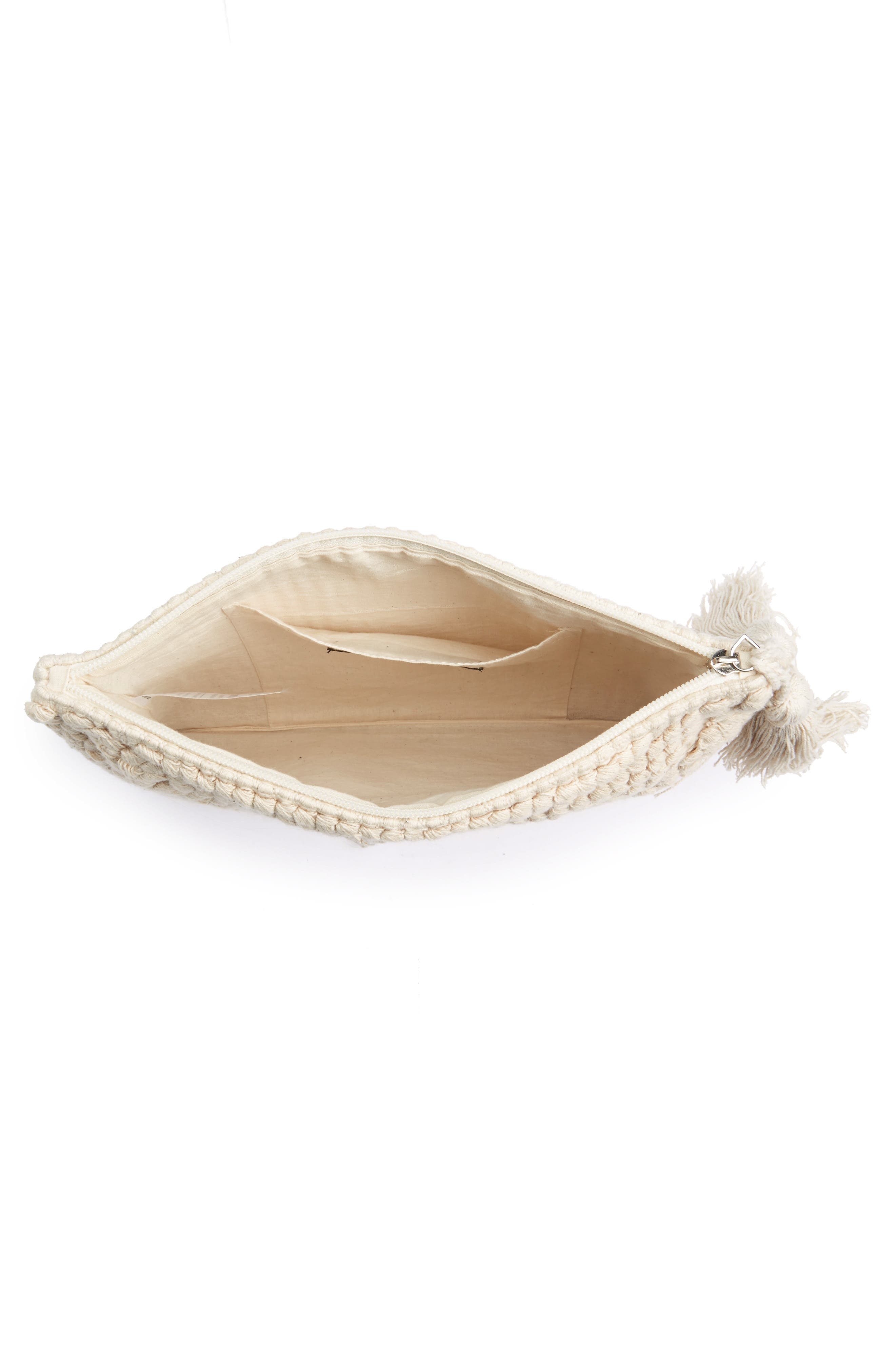 Palisades Tasseled Woven Clutch,                             Alternate thumbnail 18, color,