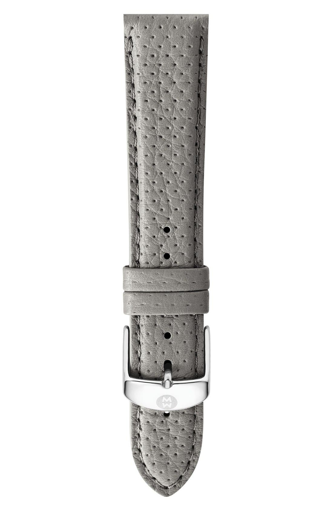 16mm Leather Watch Strap,                             Main thumbnail 2, color,