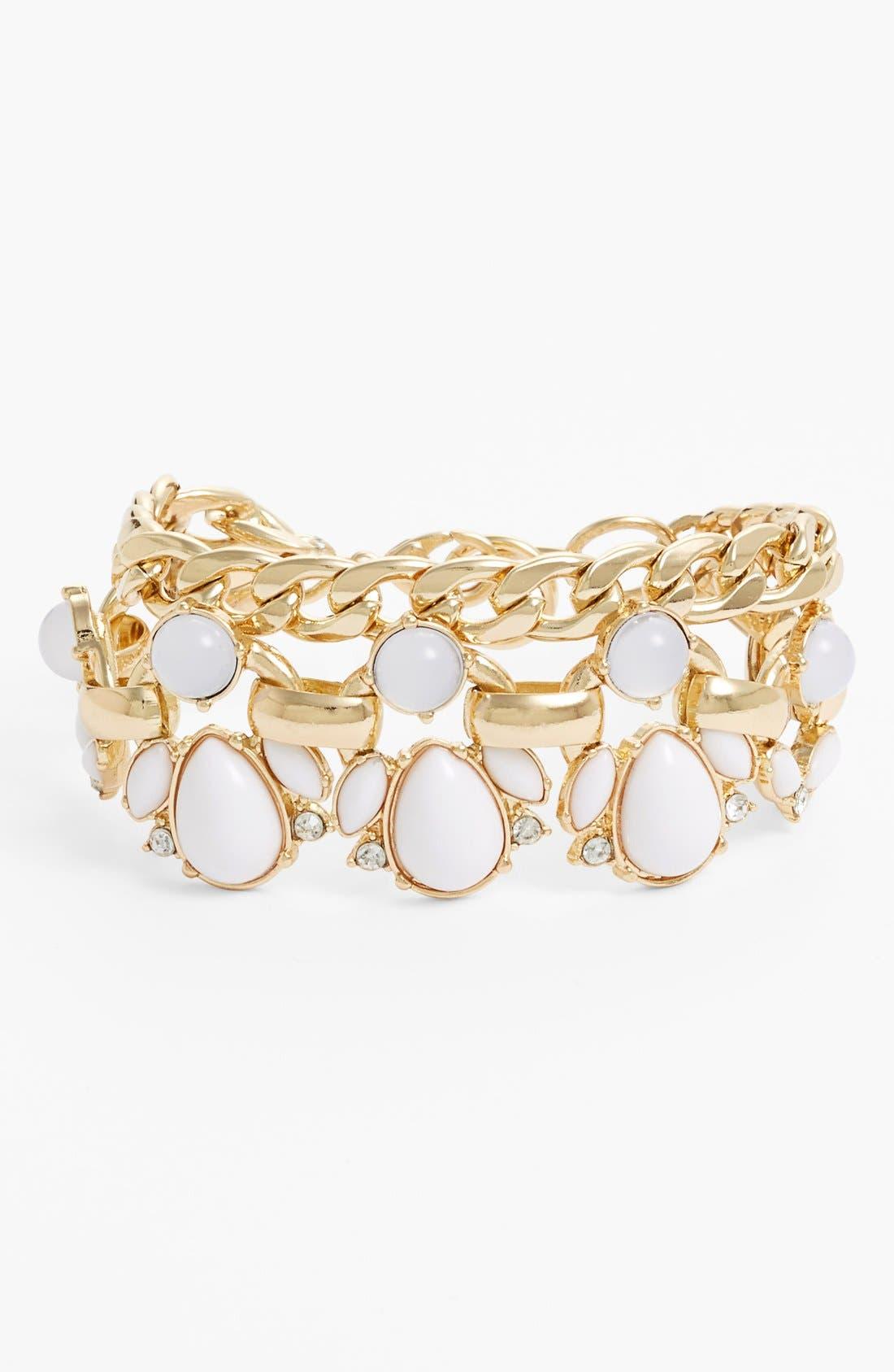 'Capri' Link Bracelet,                             Main thumbnail 1, color,                             100