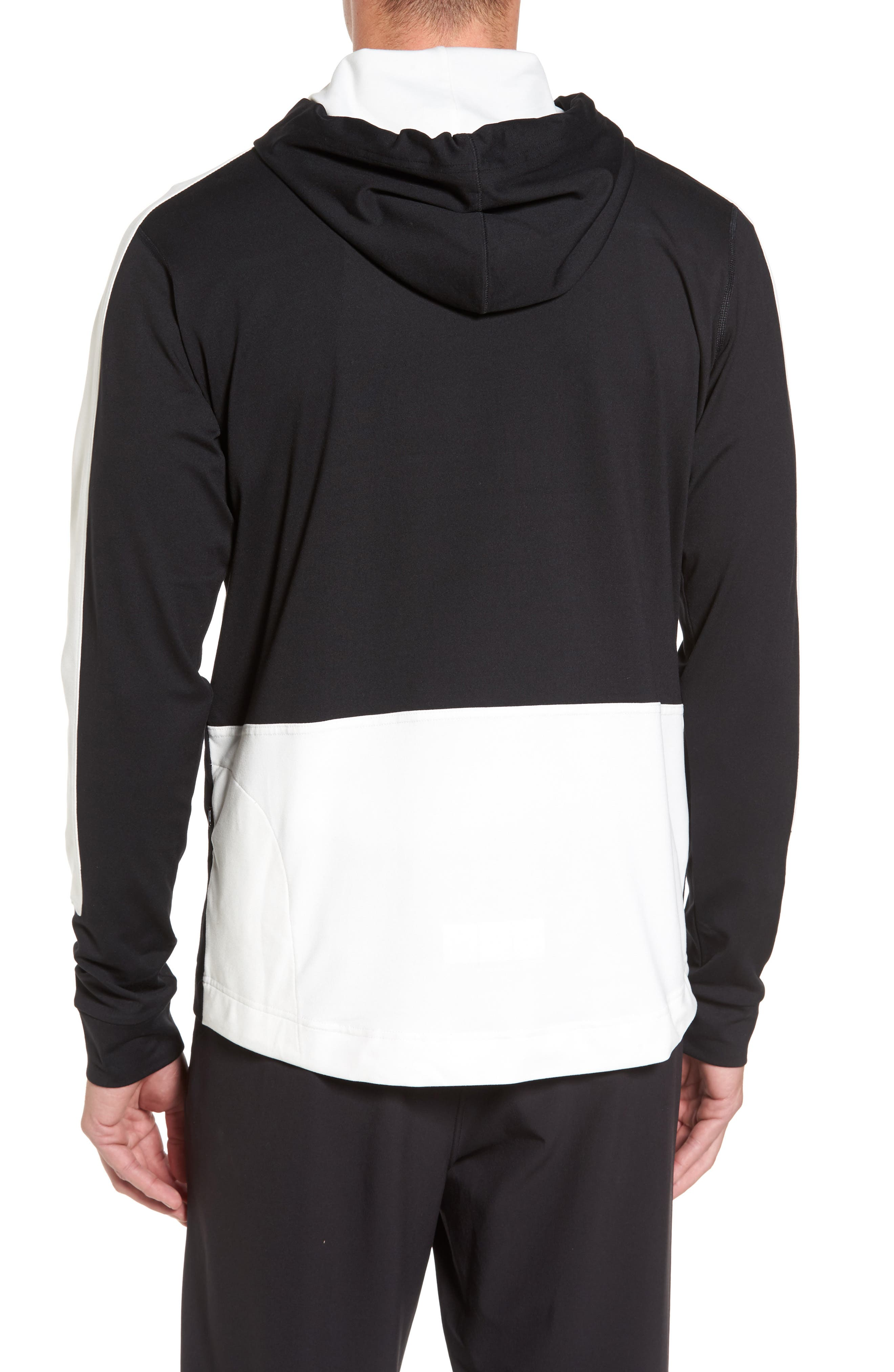Colorblock Stretch Hoodie,                             Alternate thumbnail 2, color,                             001
