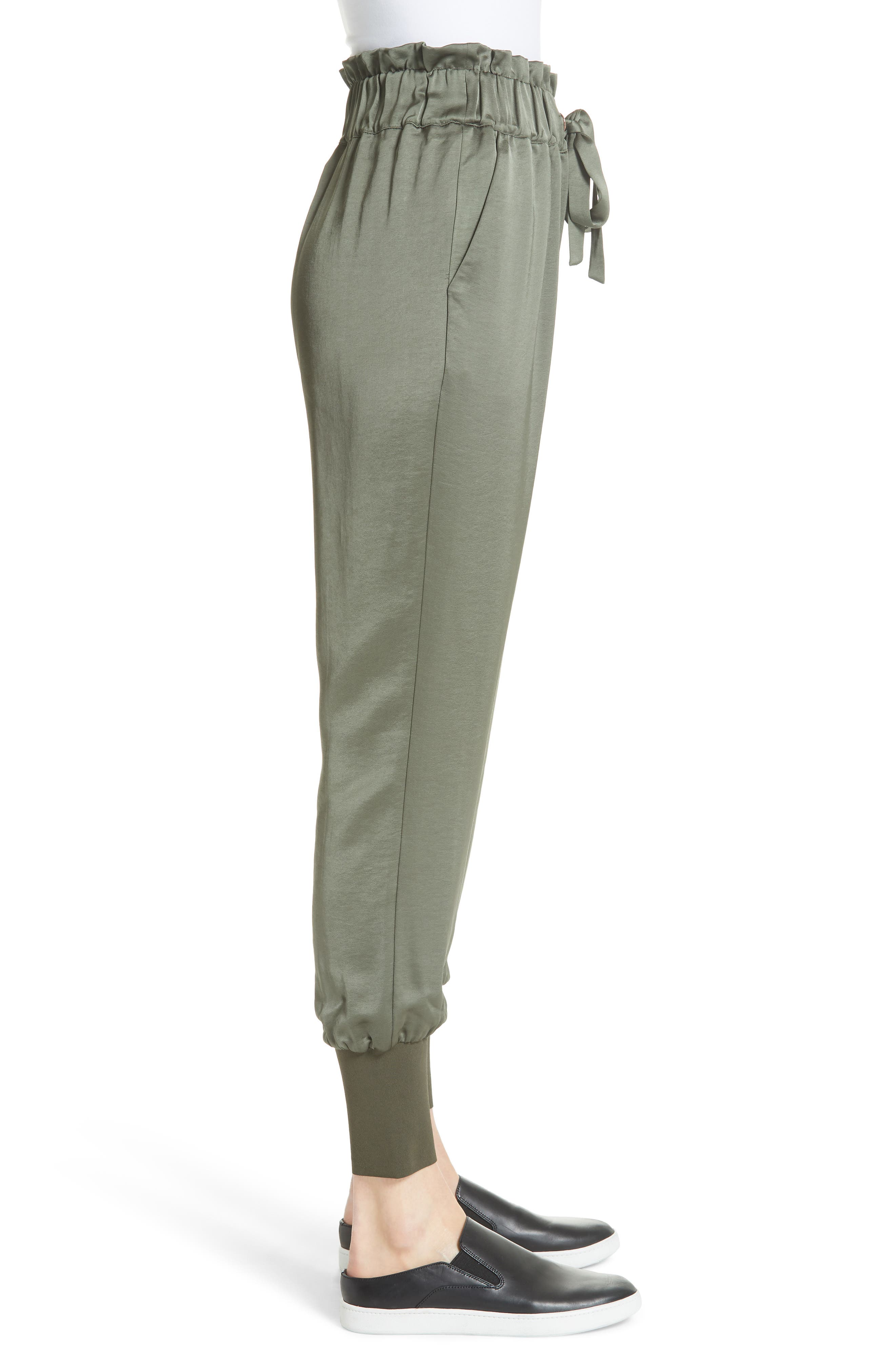 Nayarmi Paperbag Waist Jogger Pants,                             Alternate thumbnail 3, color,                             312