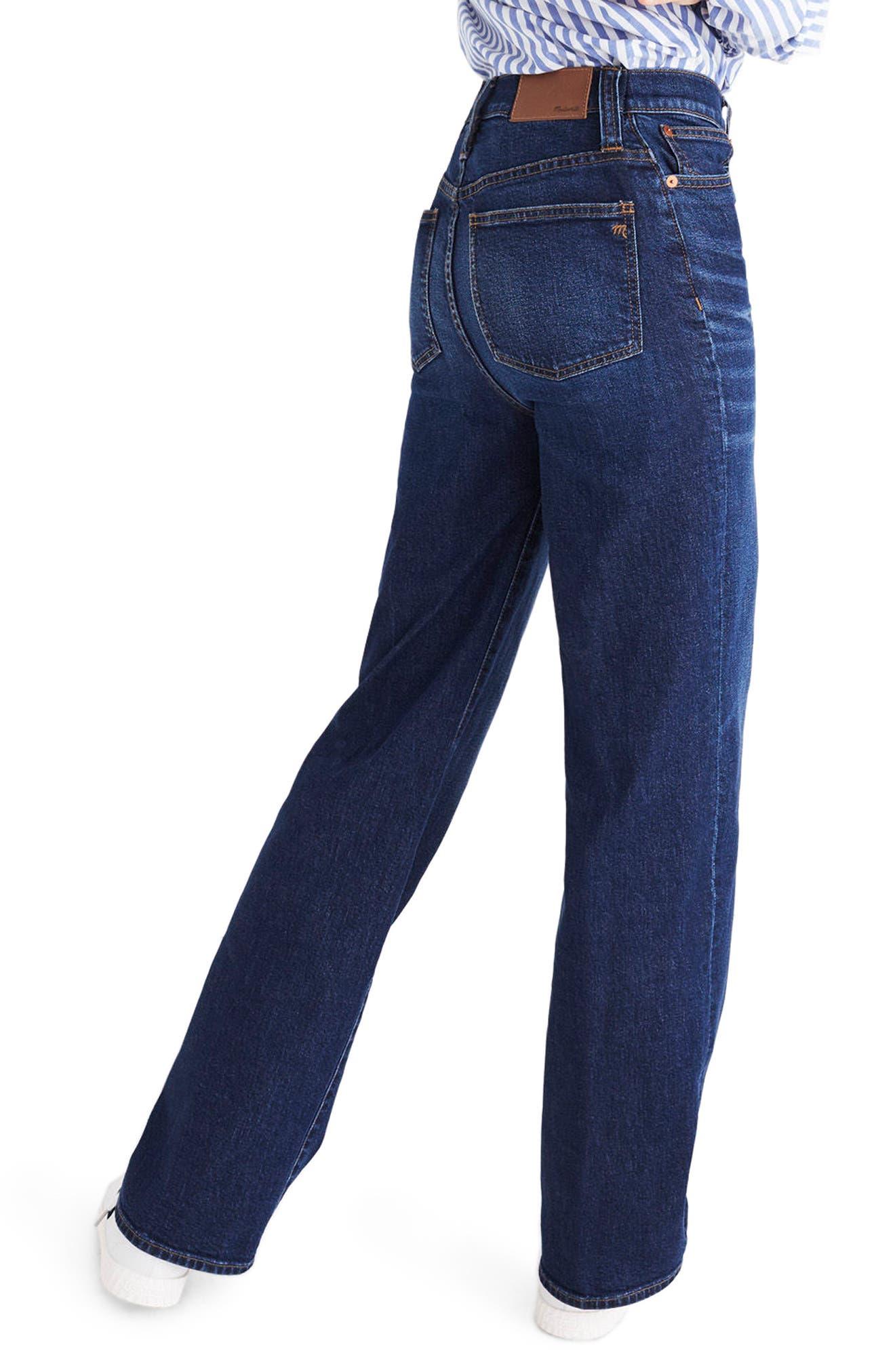 High Waist Wide Leg Jeans,                             Alternate thumbnail 2, color,                             400