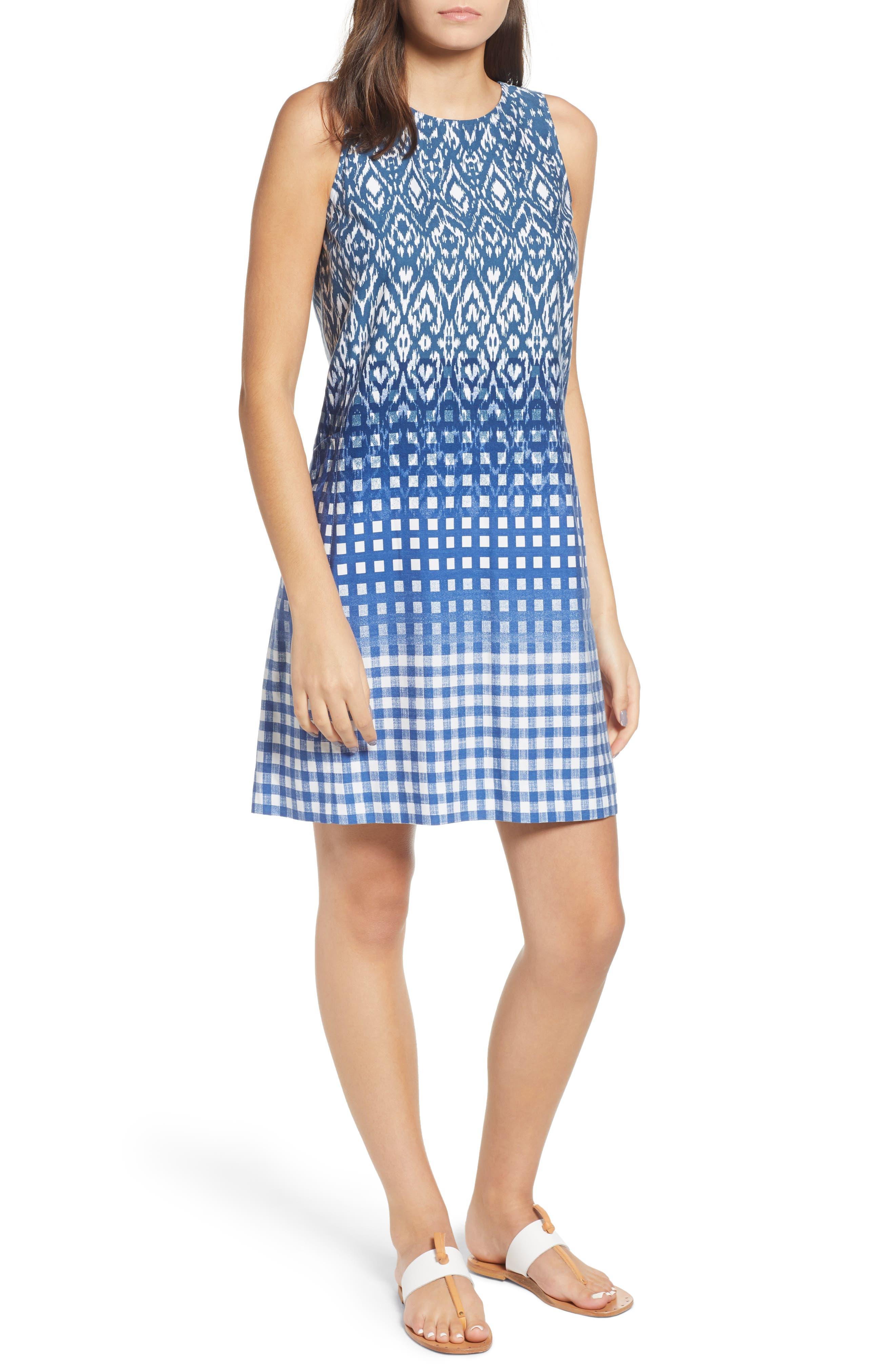Tommy Bahama Isla De Ikat Shift Dress, Blue