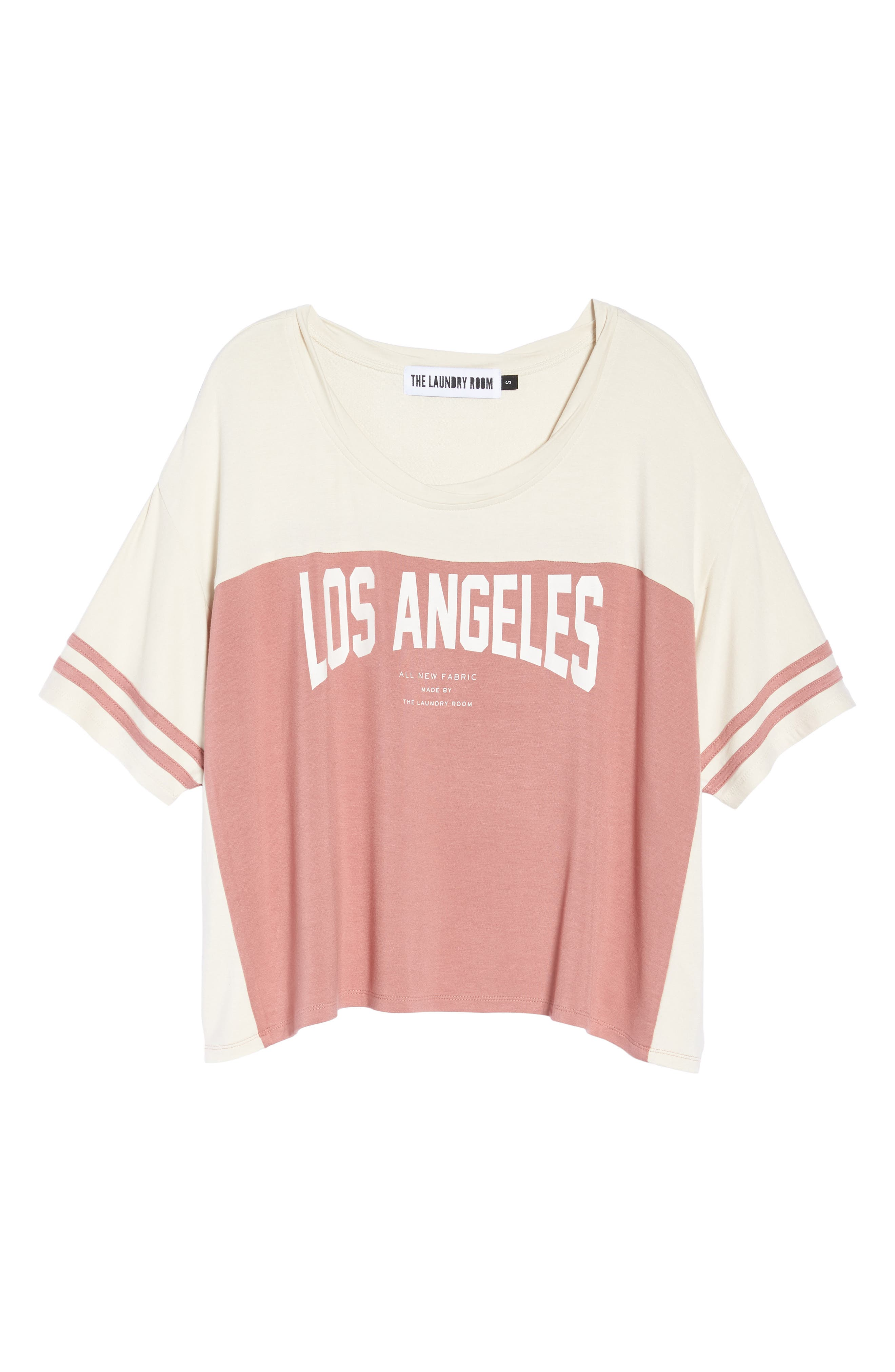 Los Angeles Crop Tee,                             Alternate thumbnail 6, color,                             930