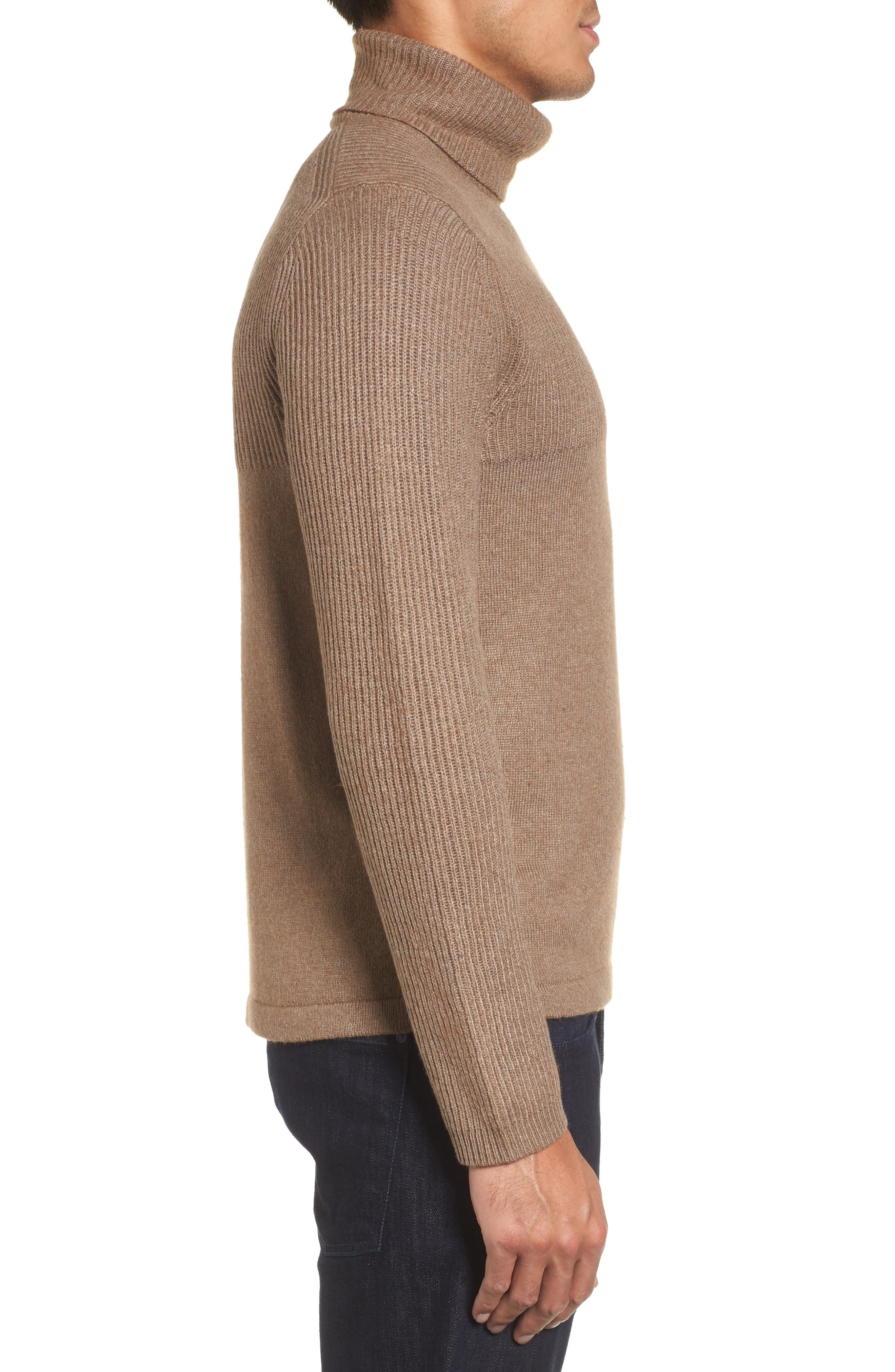 Mix Stitch Turtleneck Sweater,                             Alternate thumbnail 3, color,                             261