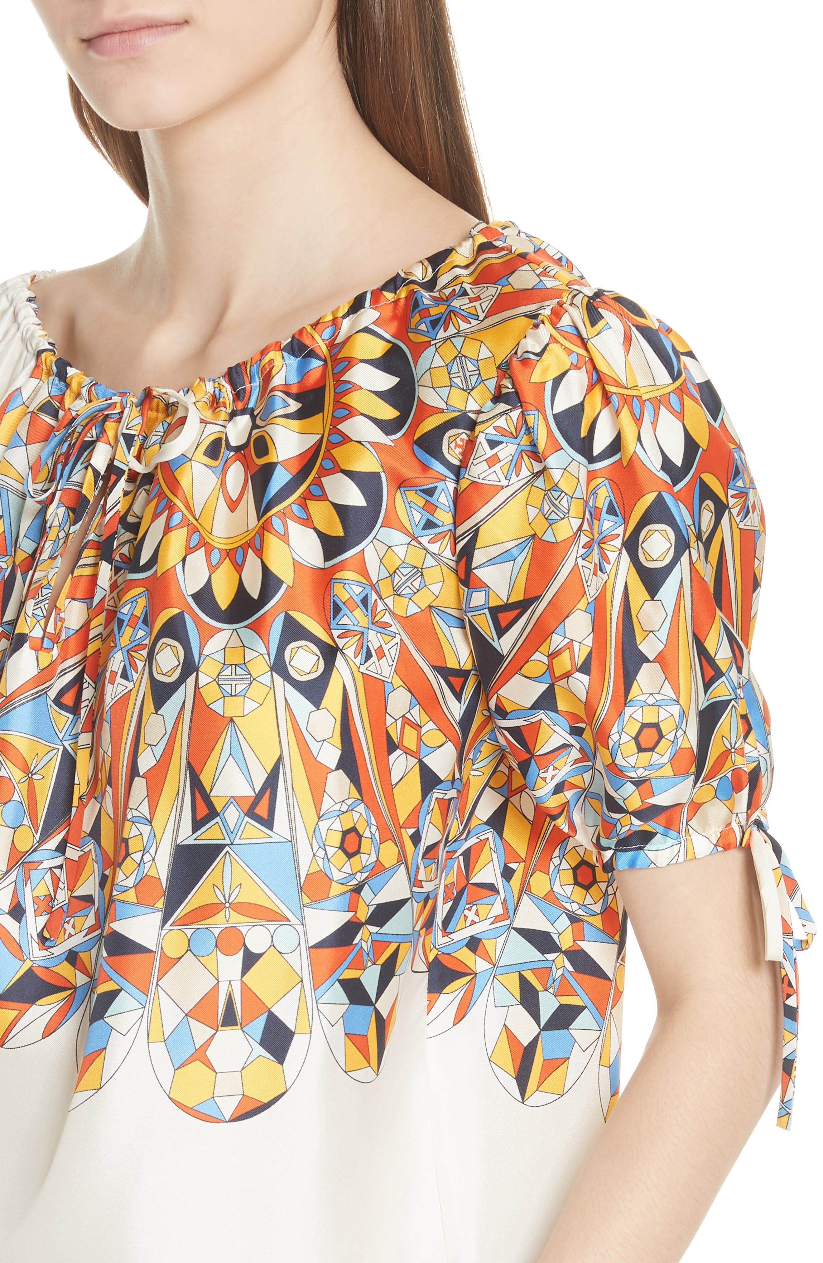 Alyssa Silk Top,                             Alternate thumbnail 4, color,                             106