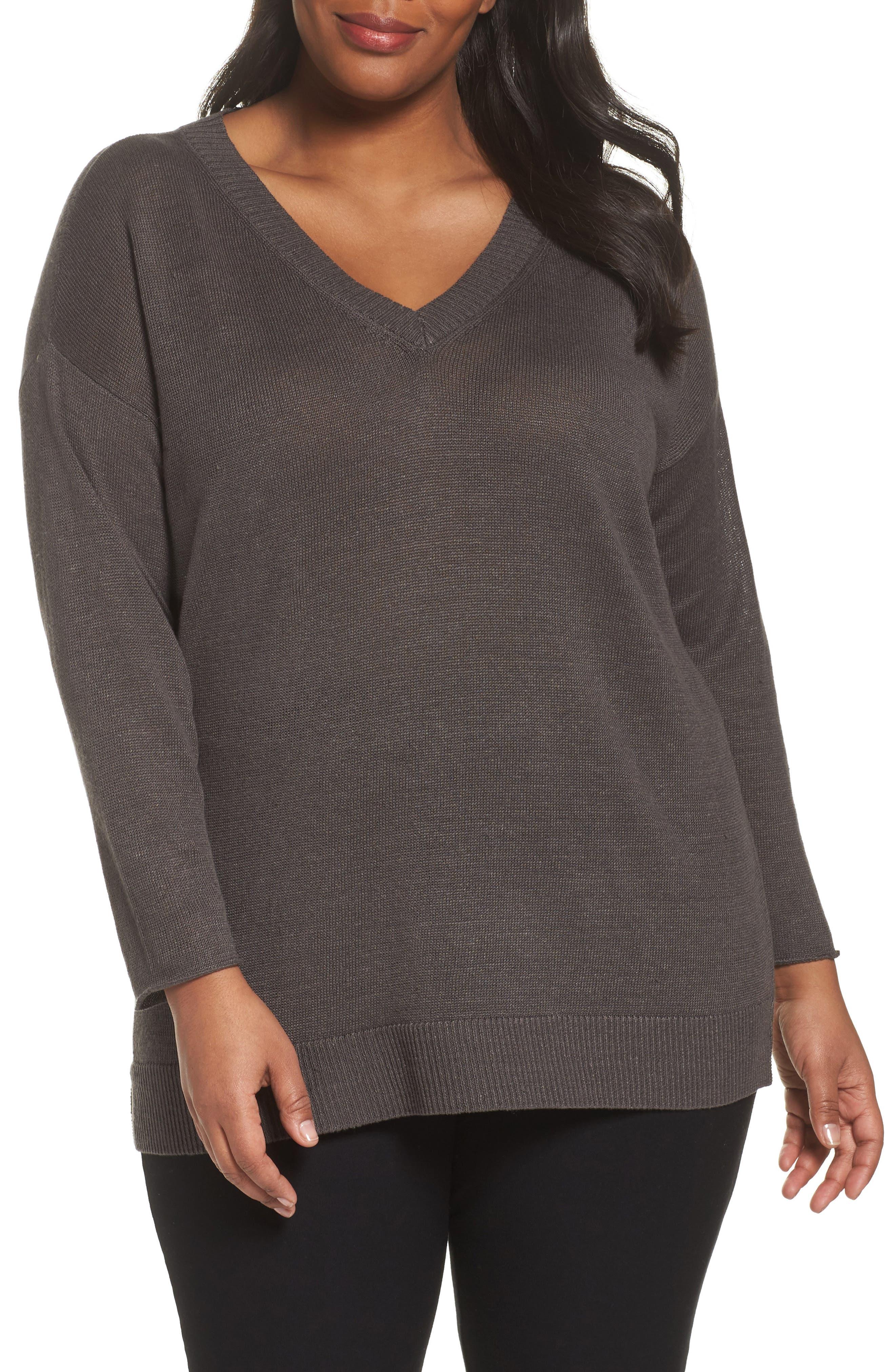 Organic Linen Sweater,                             Main thumbnail 1, color,                             245