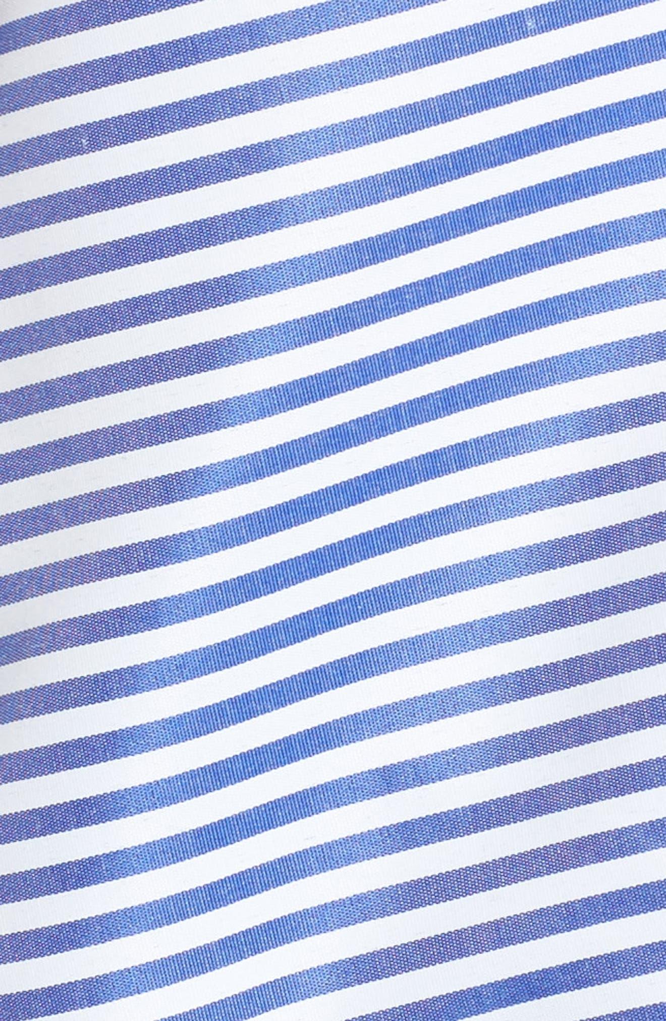 Asymmetrical Open Shoulder Ruffle Top,                             Alternate thumbnail 5, color,