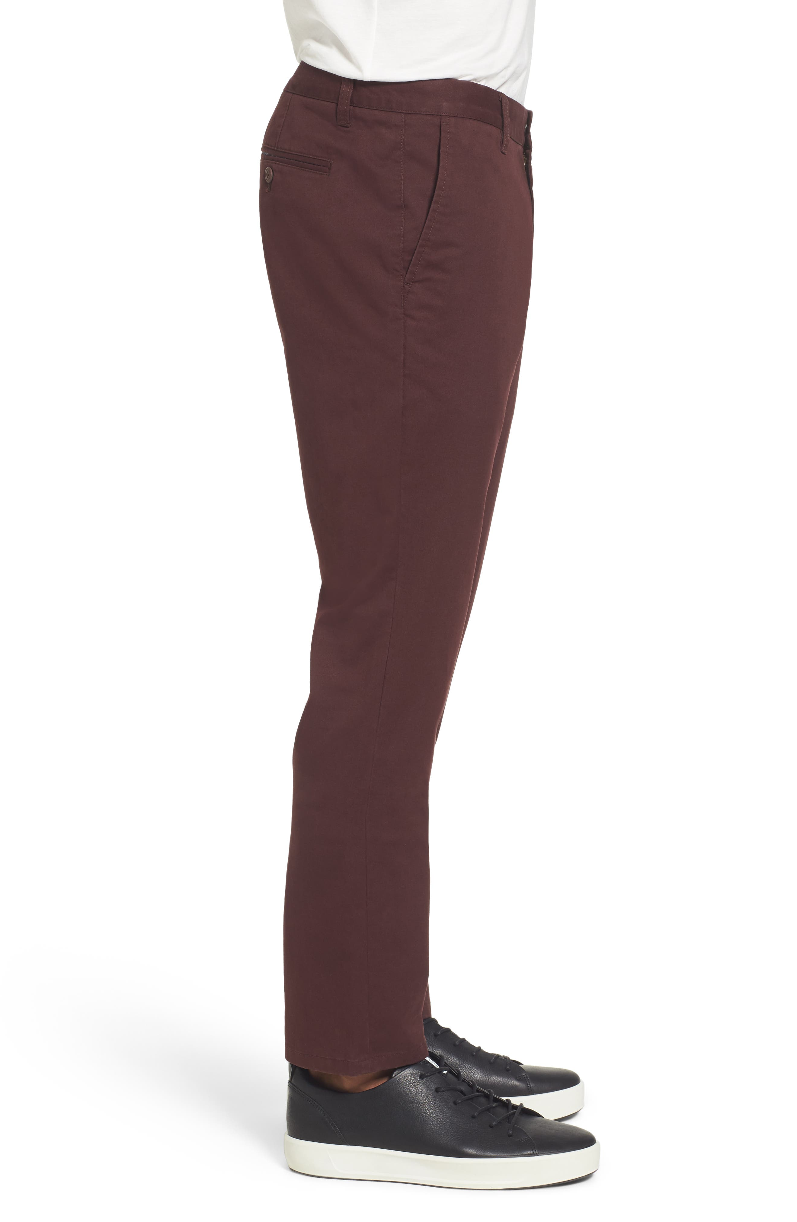 Tailored Fit Washed Stretch Cotton Chinos,                             Alternate thumbnail 93, color,