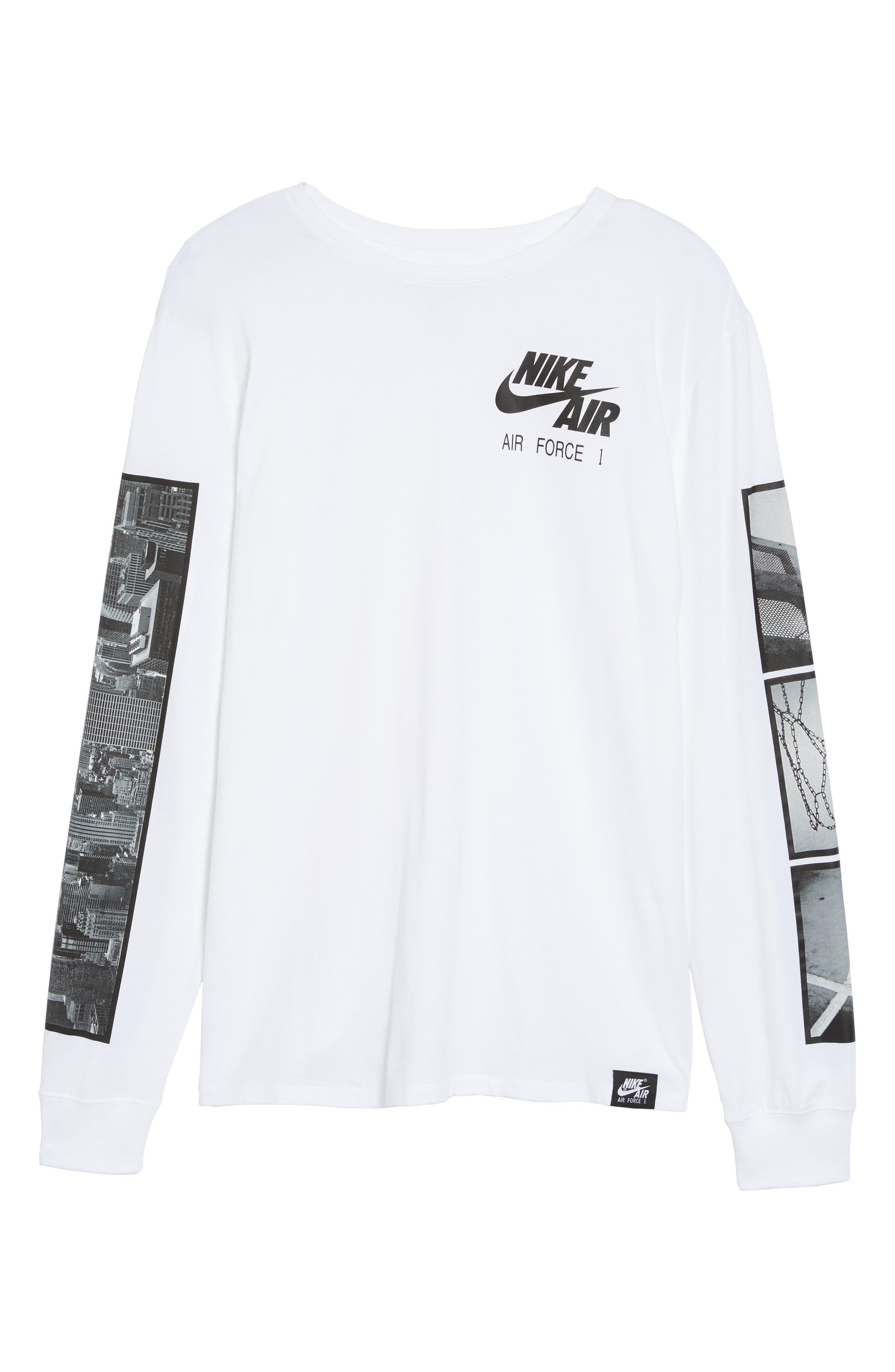 Air Force 1 Long Sleeve T-Shirt,                             Alternate thumbnail 12, color,