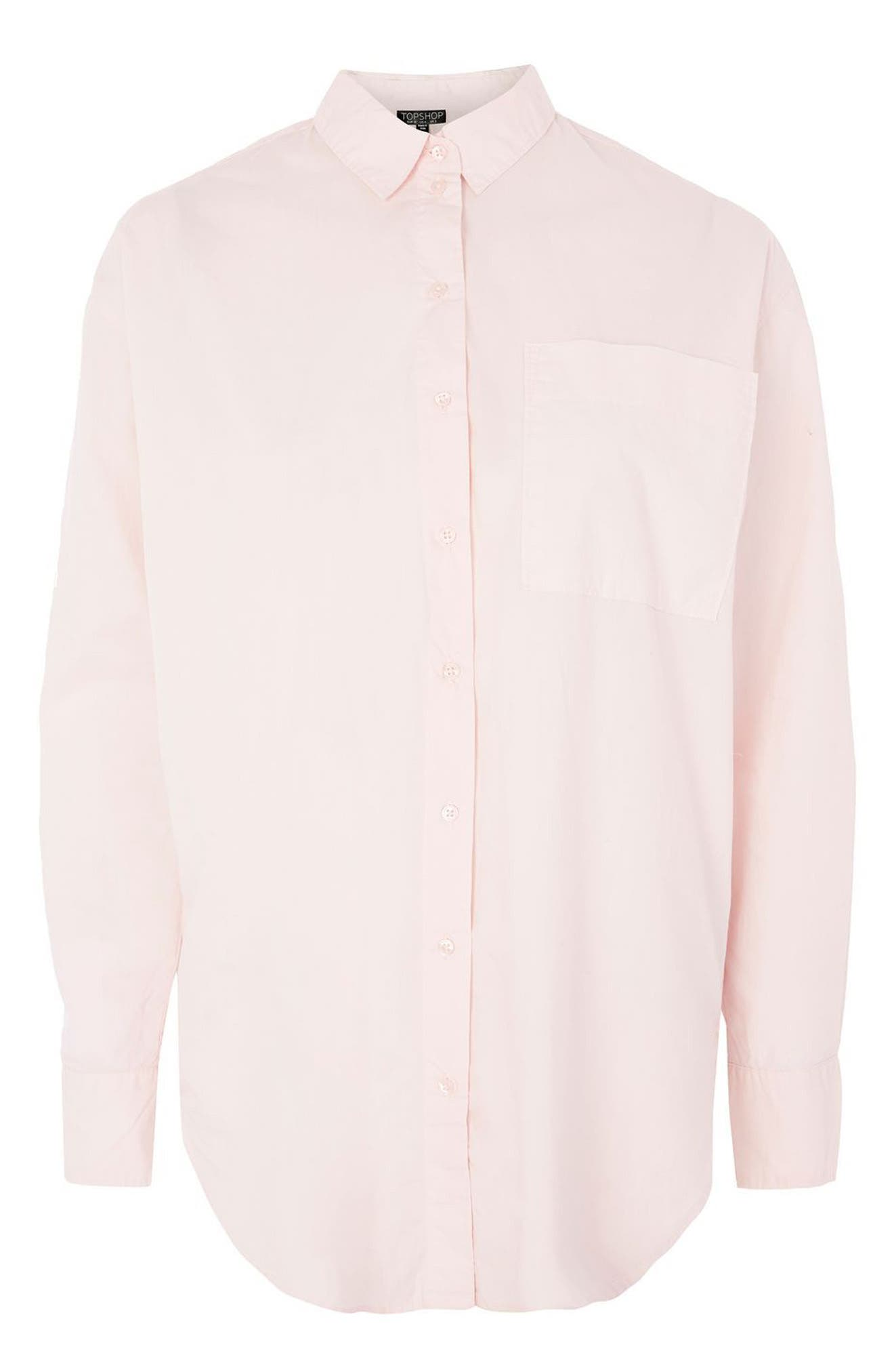 Olly Oversize Poplin Shirt,                             Alternate thumbnail 4, color,                             680