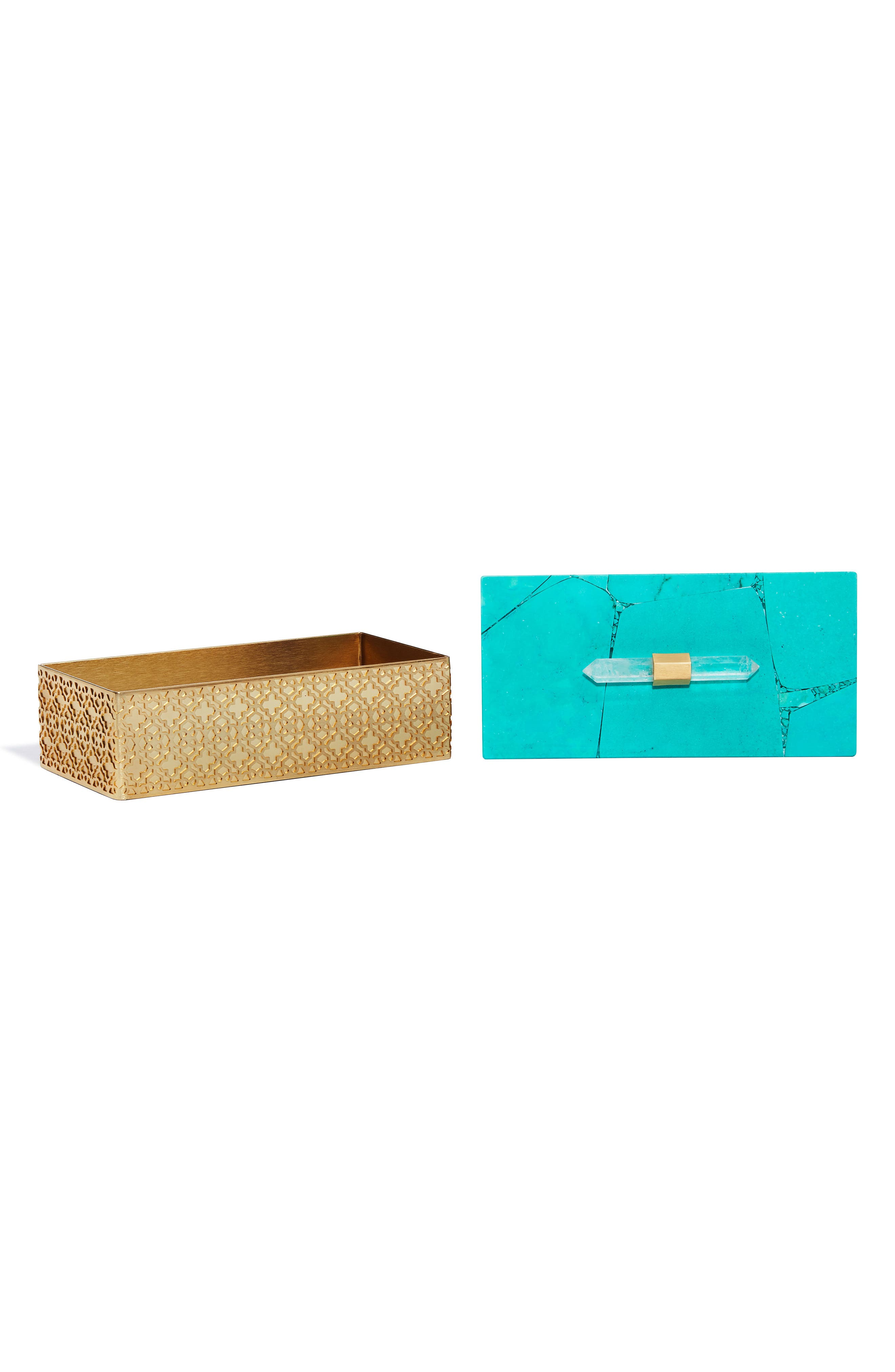 Rectangle Filigree Box,                             Alternate thumbnail 2, color,                             VARIEGATED TEAL