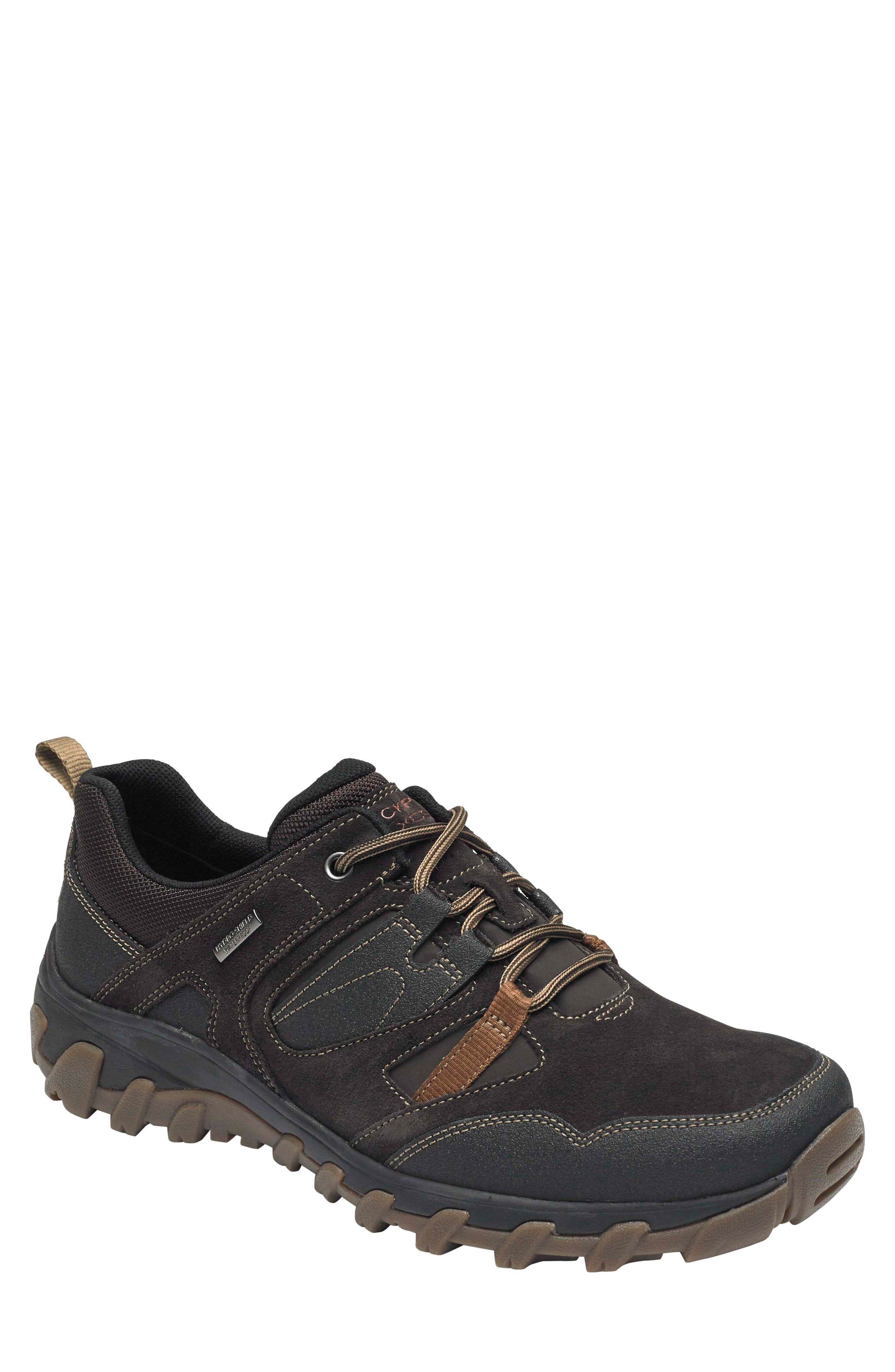 Cold Springs Plus Lace-Up Sneaker,                             Main thumbnail 1, color,                             DARK BROWN LEATHER