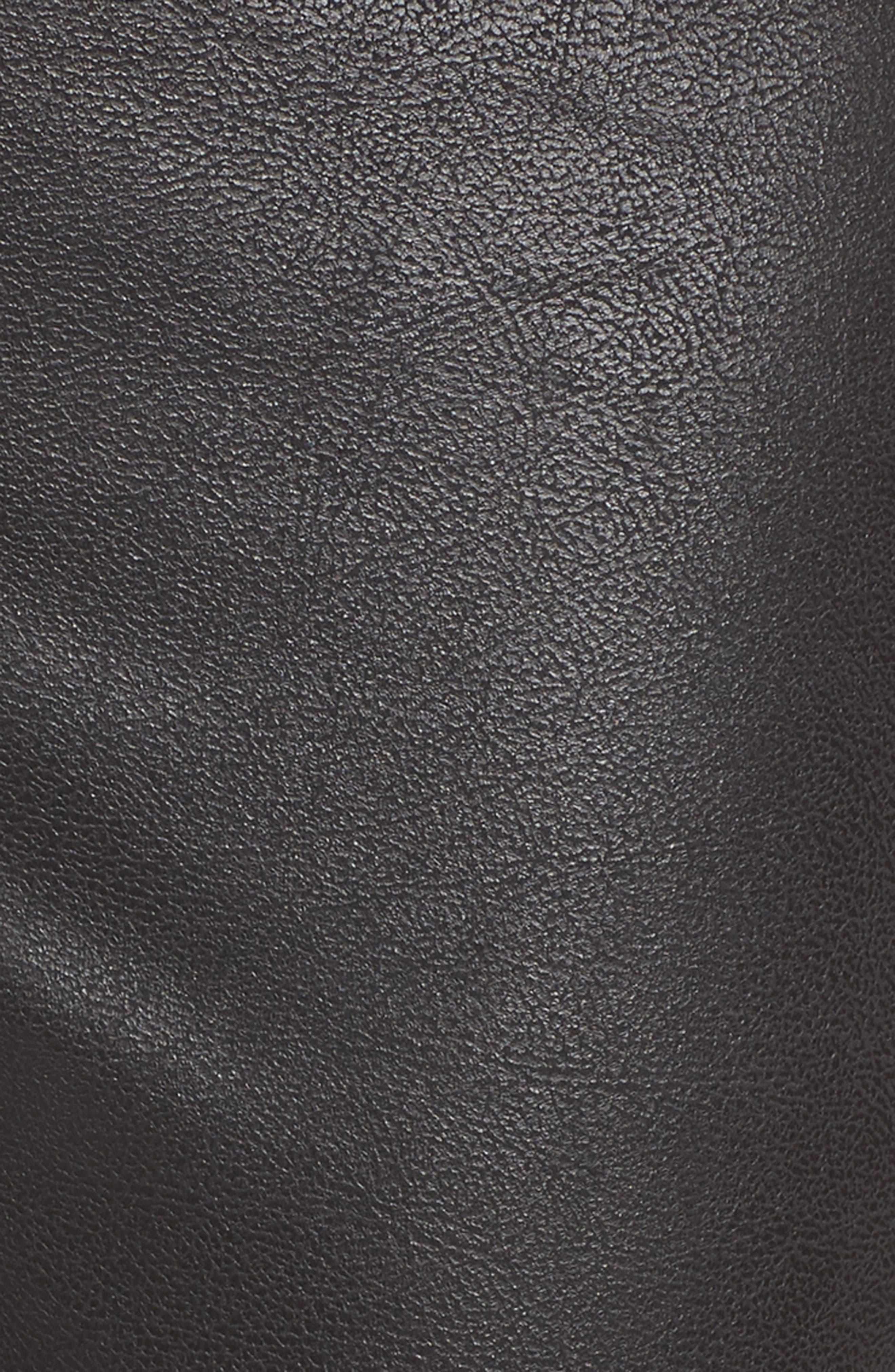 Wide Waist Biker Leggings,                             Alternate thumbnail 5, color,                             BLACK CAVIAR