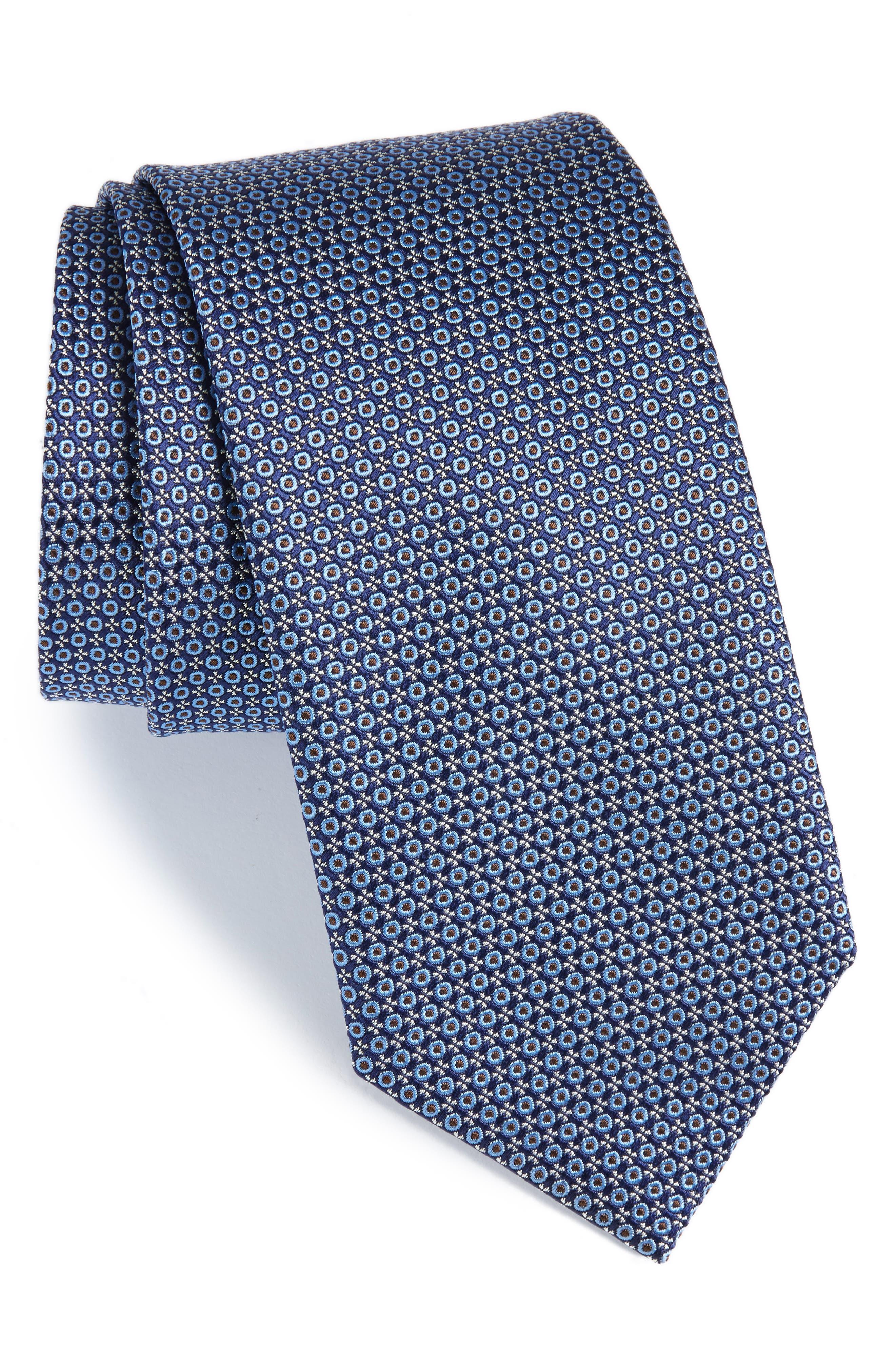 Geometric Silk Tie,                         Main,                         color, 410