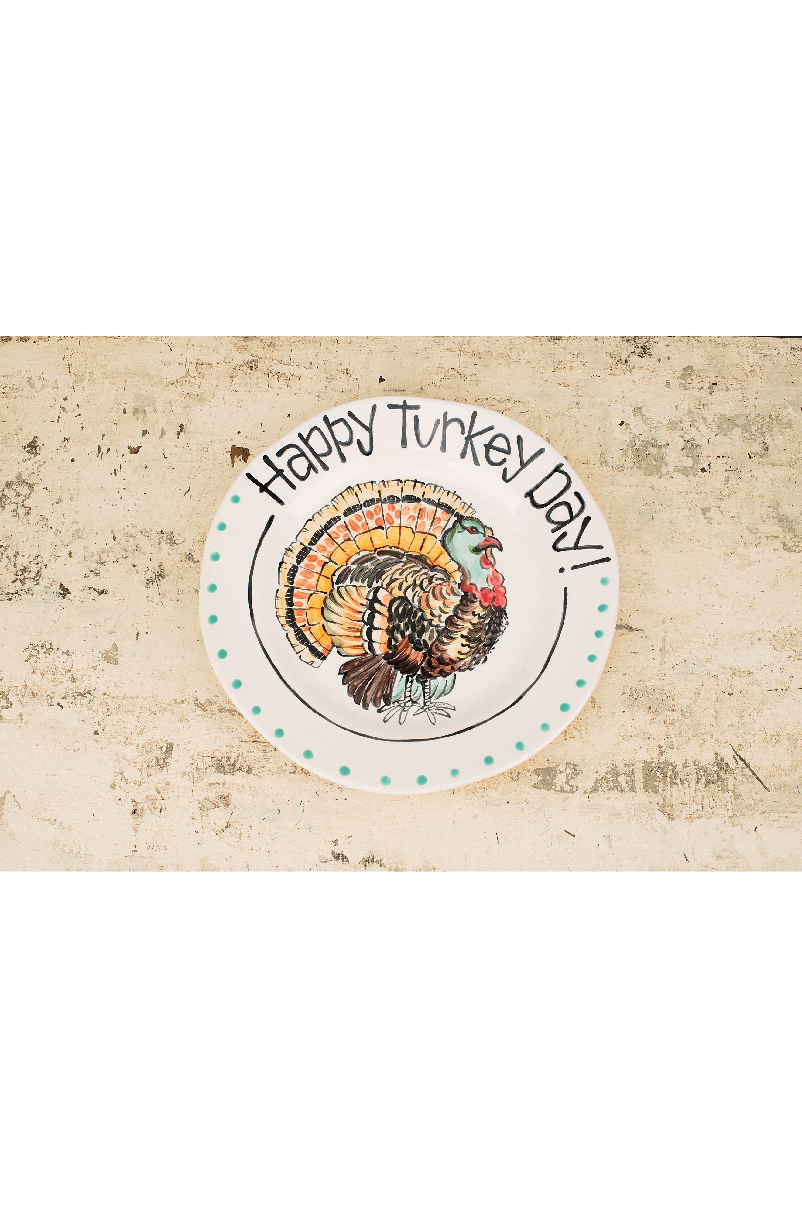 Happy Turkey Day Plate,                             Alternate thumbnail 2, color,                             900