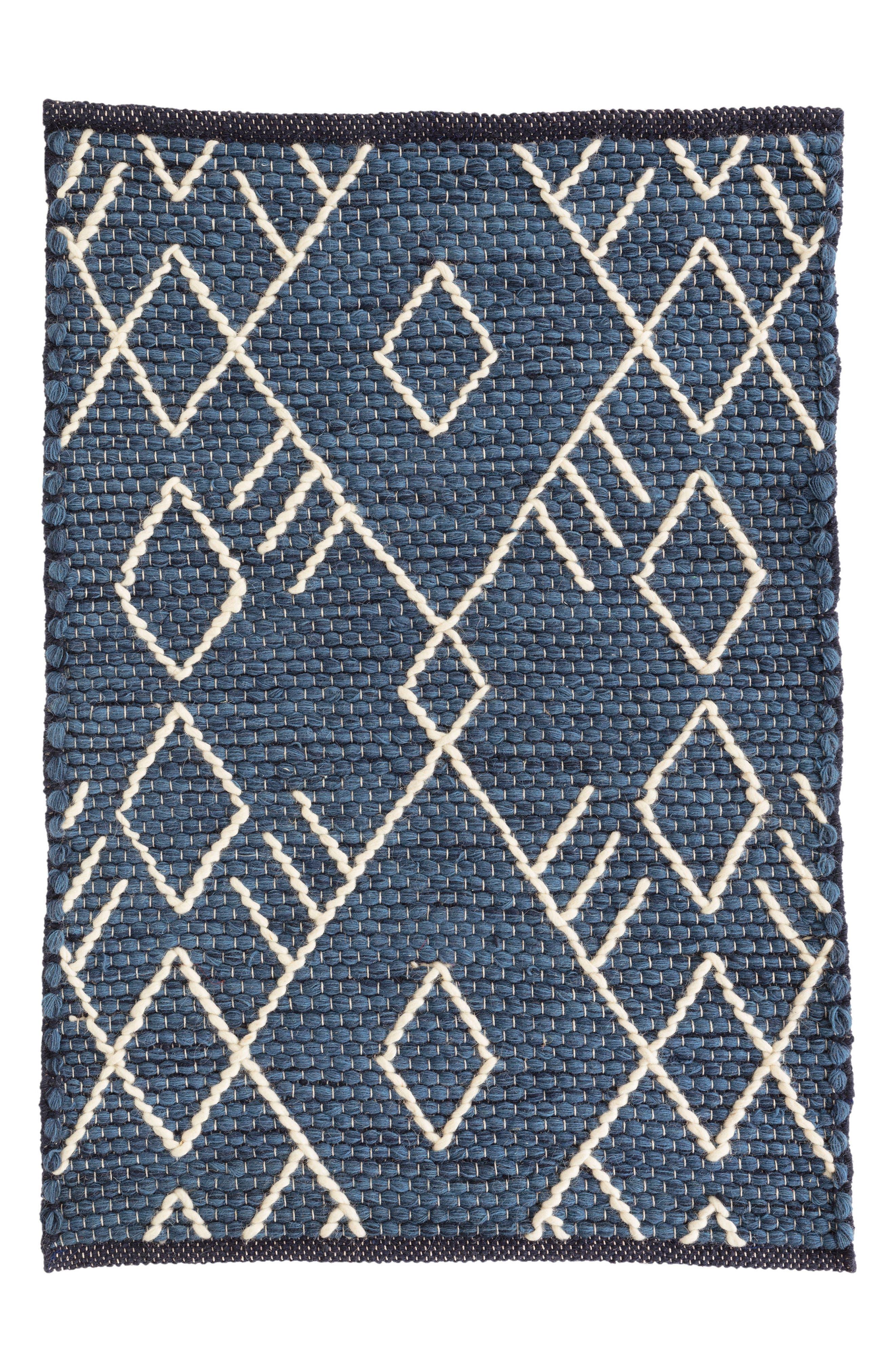 Teca Woven Rug,                         Main,                         color, INDIGO