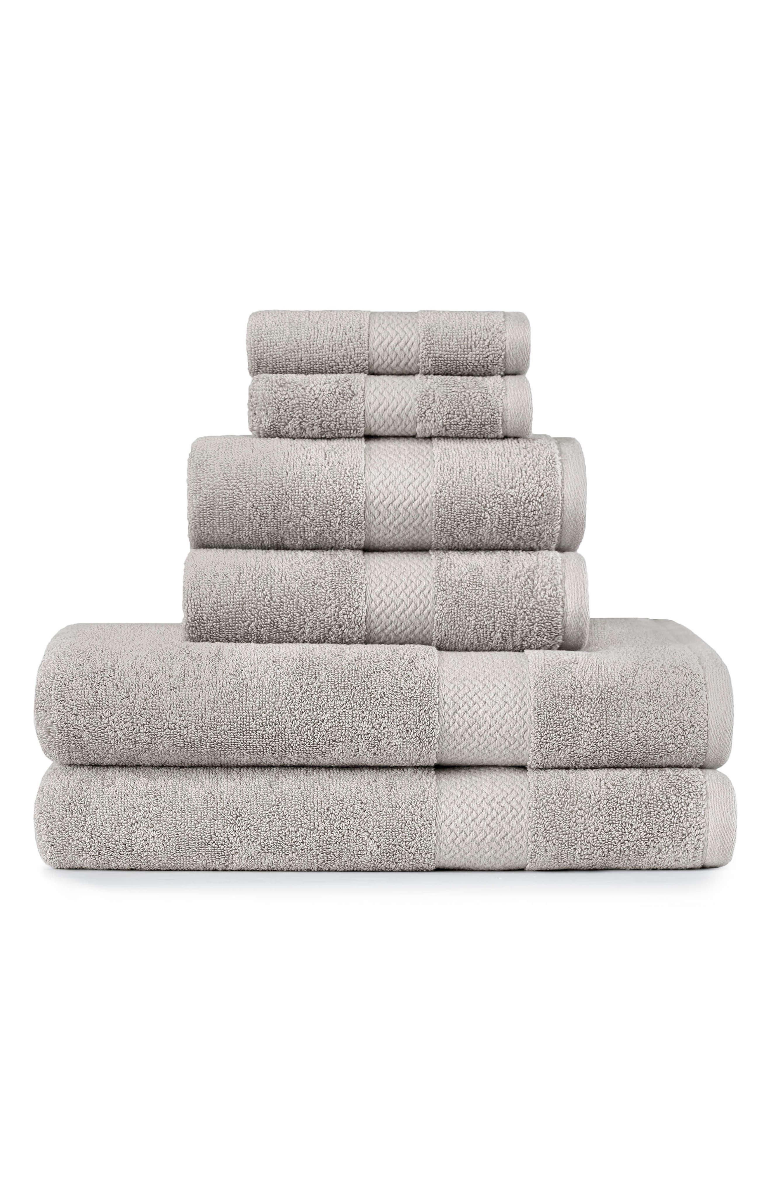 Tommy Bahama Cypress Bay 6Piece Towel Set Size One Size  Grey