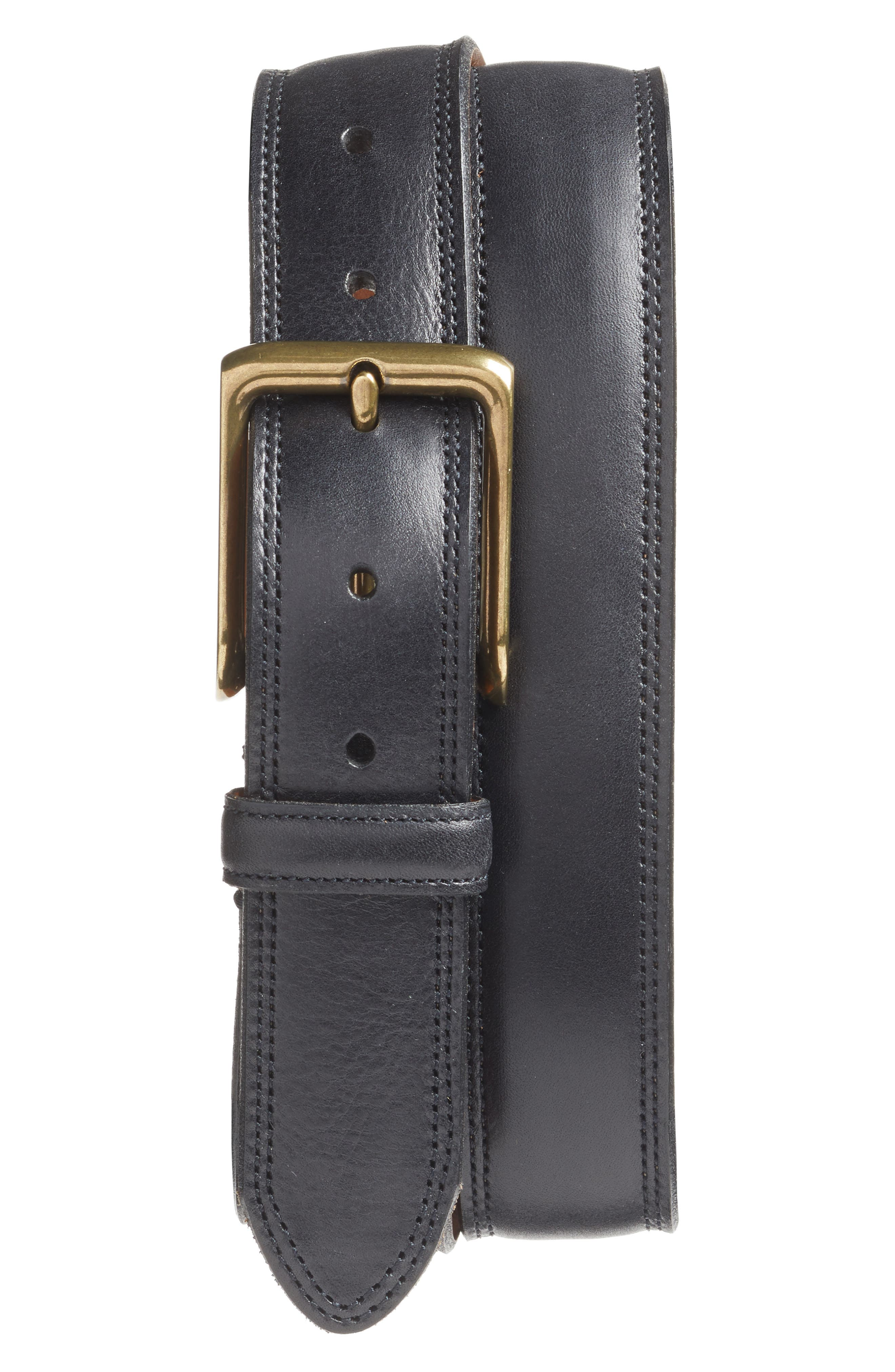 Bosca The Jefferson Leather Belt, Black