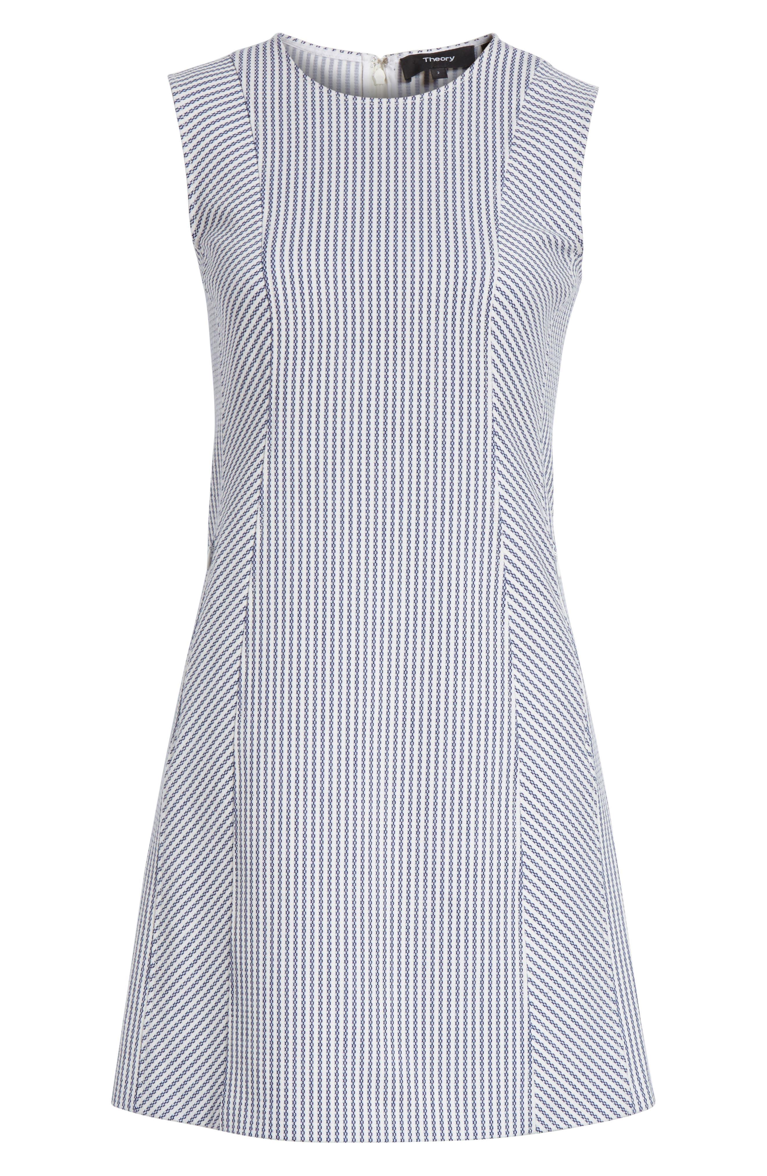 Helaina Sayre Stripe A-Line Dress,                             Alternate thumbnail 6, color,