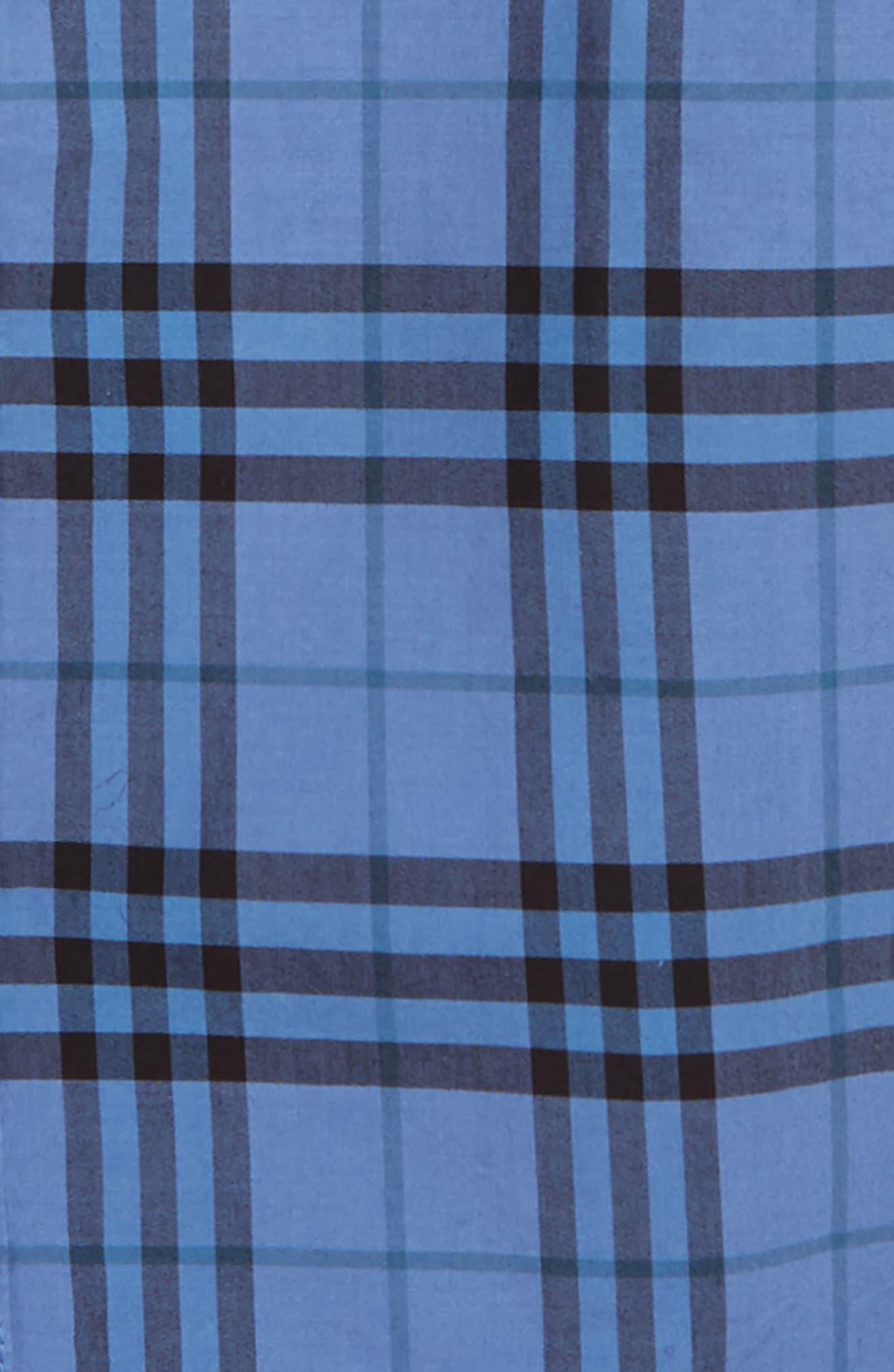 Sammi Dye Plaid Woven Shirt,                             Alternate thumbnail 2, color,                             DUSTY BLUE