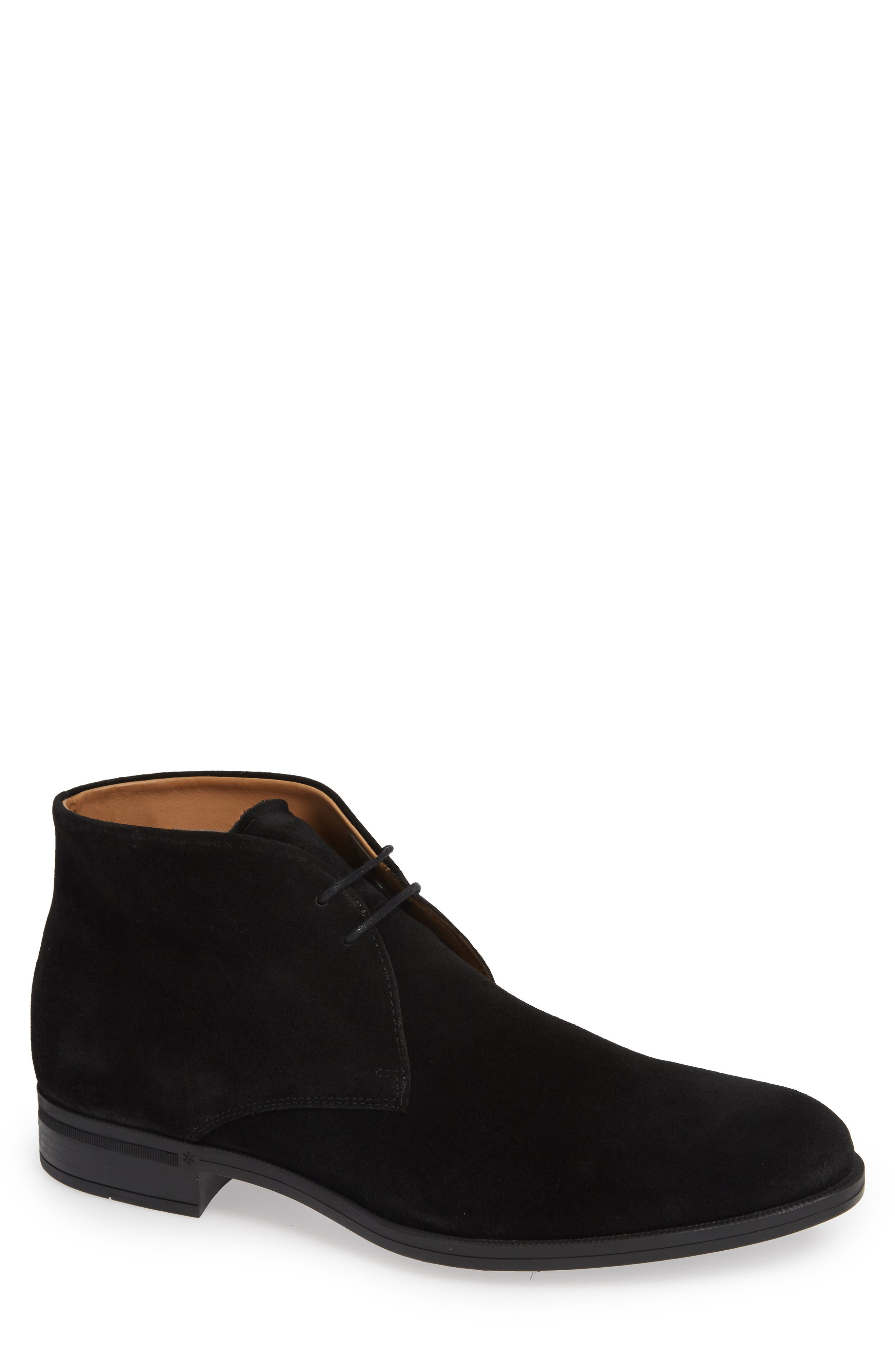 Iden Chukka Boot,                         Main,                         color, BLACK SUEDE