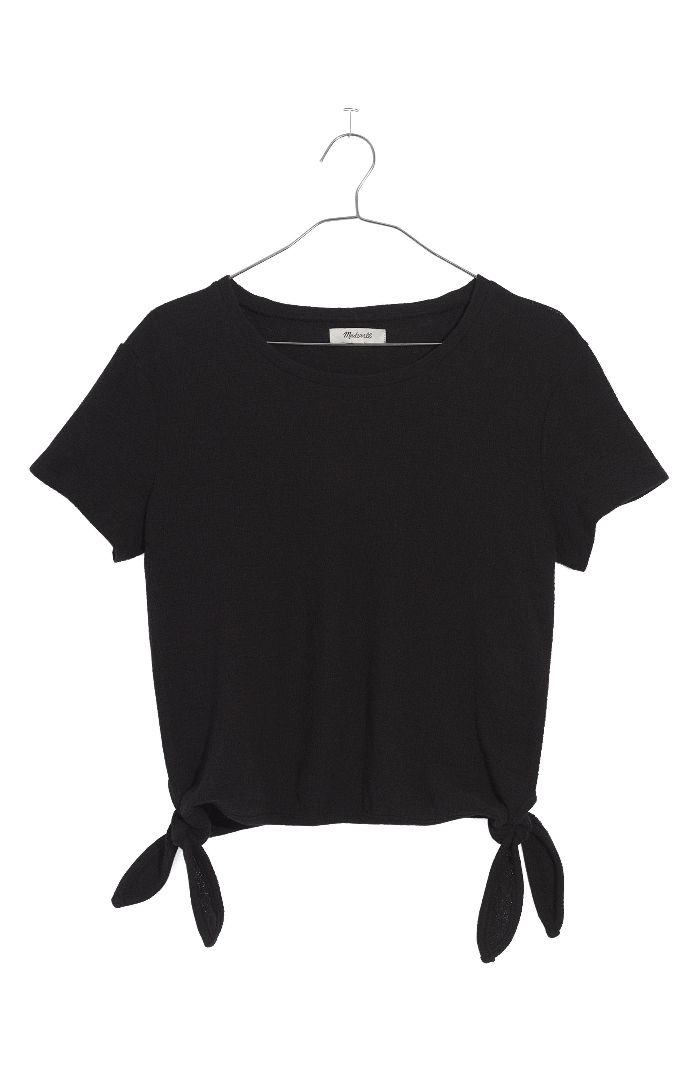 Modern Side Tie Top,                             Main thumbnail 1, color,                             001