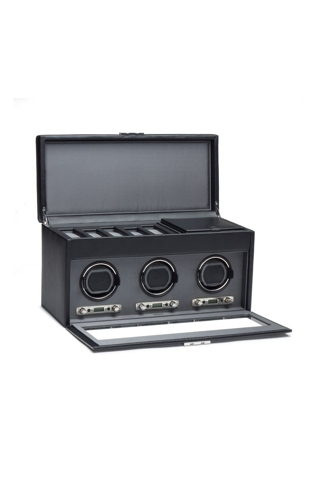 Viceroy Triple Watch Winder & Case,                             Alternate thumbnail 2, color,                             BLACK