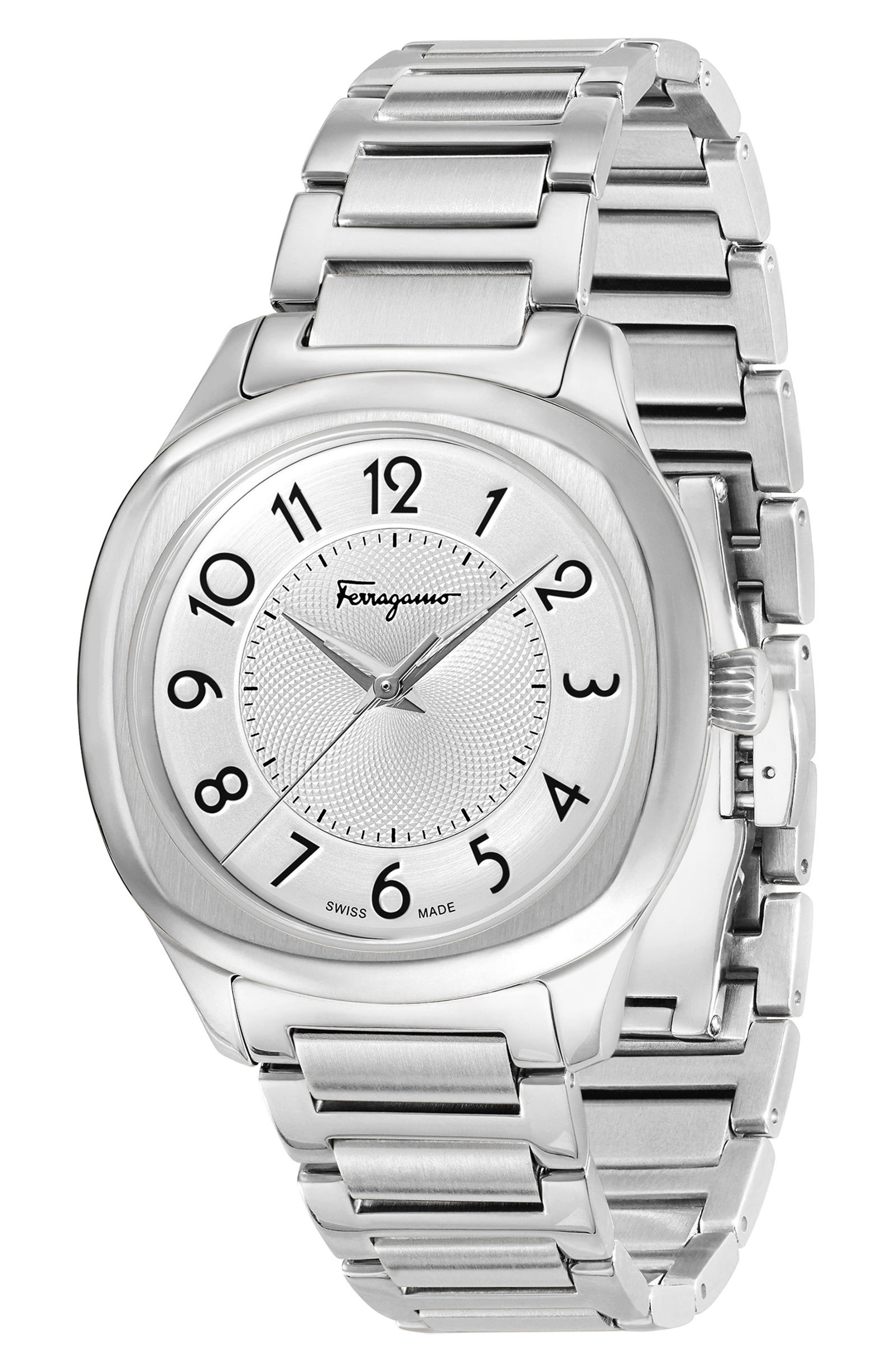 Feroni Bracelet Watch, 36mm,                             Alternate thumbnail 4, color,                             SILVER