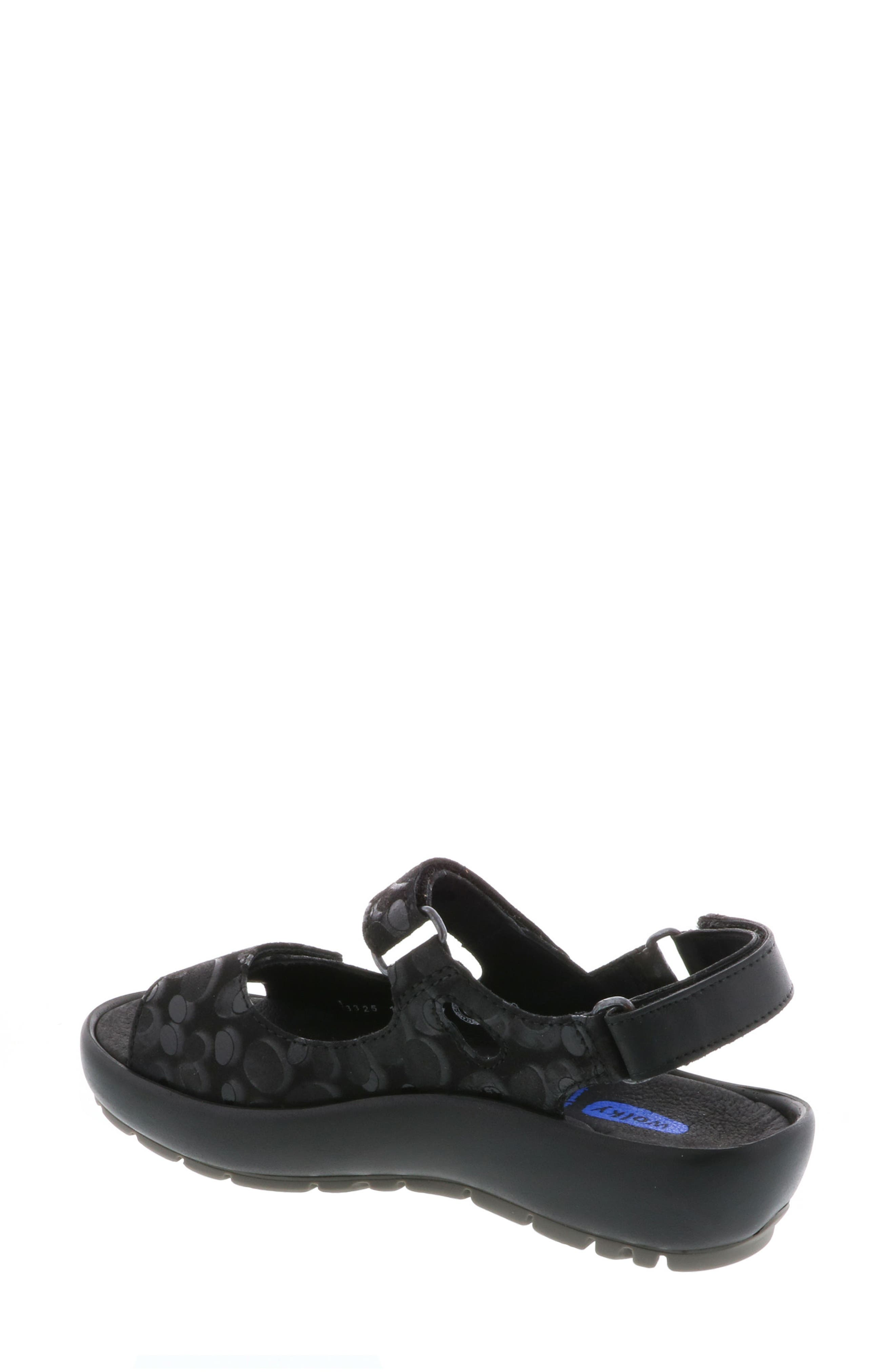 Rio Sandal,                             Alternate thumbnail 2, color,                             BLACK CIRCLE PRINT